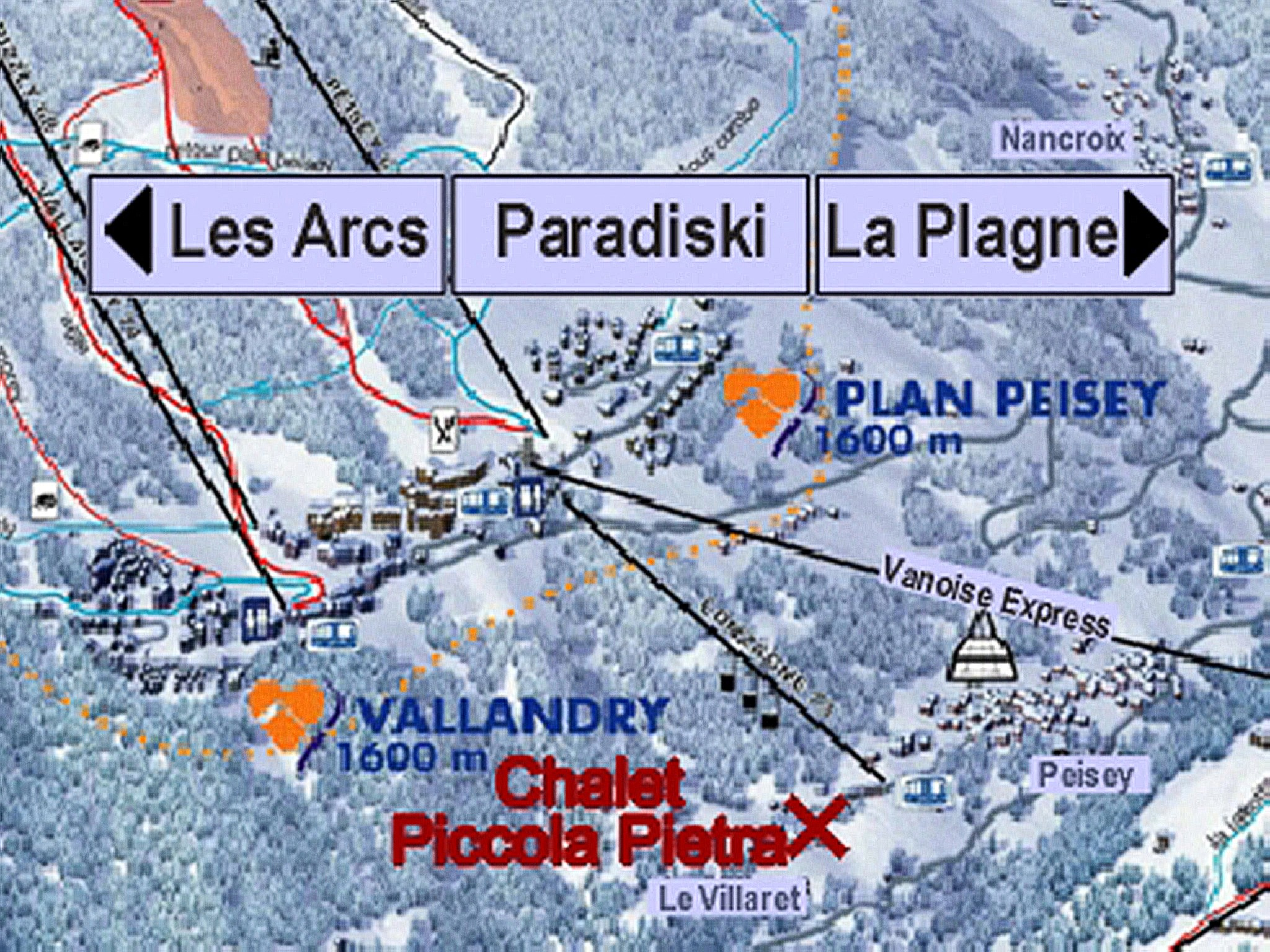 Chalet Piccola Pietra - location map