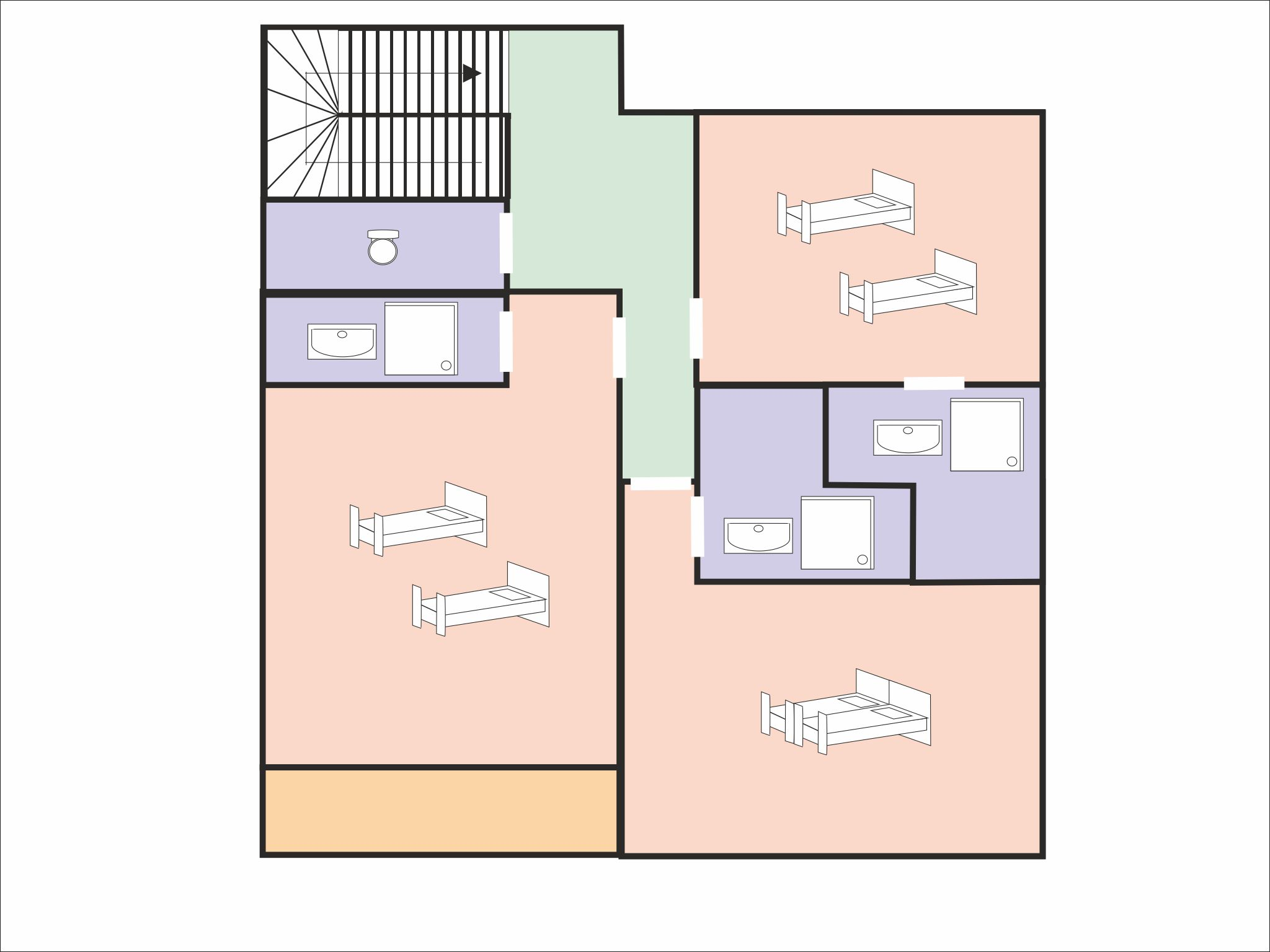 Chalet Bettaix CLI01 - floor plan - level 2