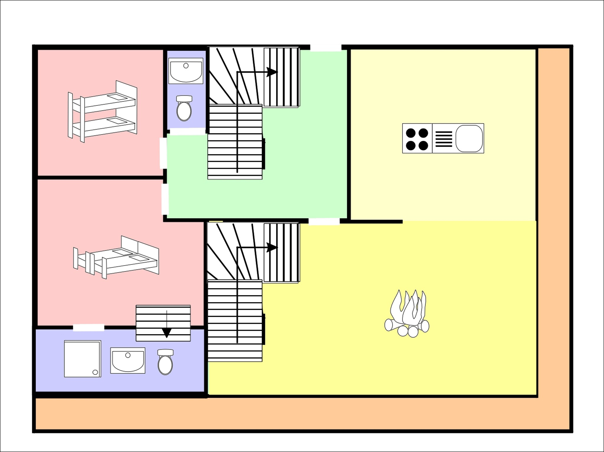 Chalet Michelle - floor plan - level 1