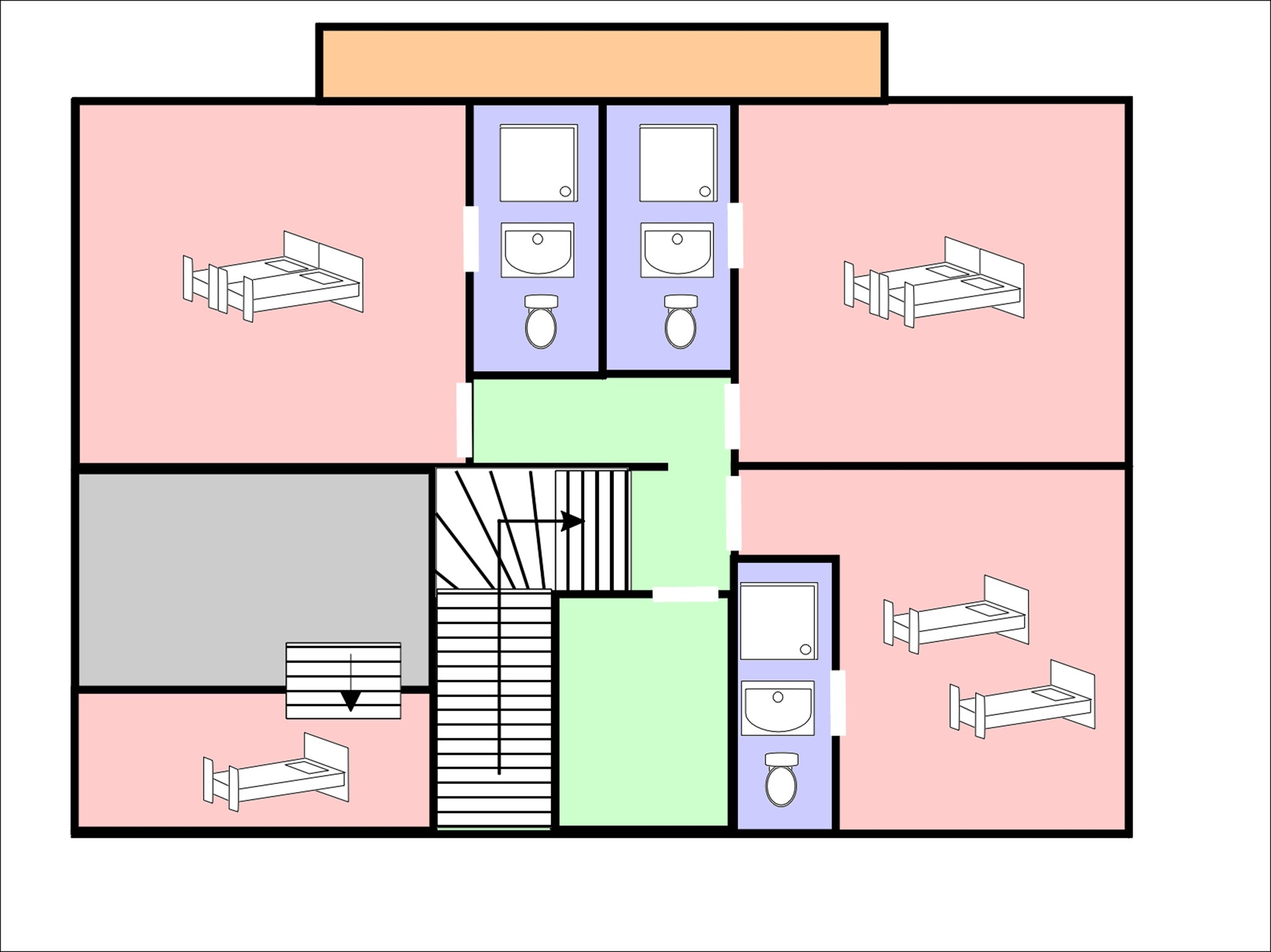 Chalet Michelle - floor plan - level 2