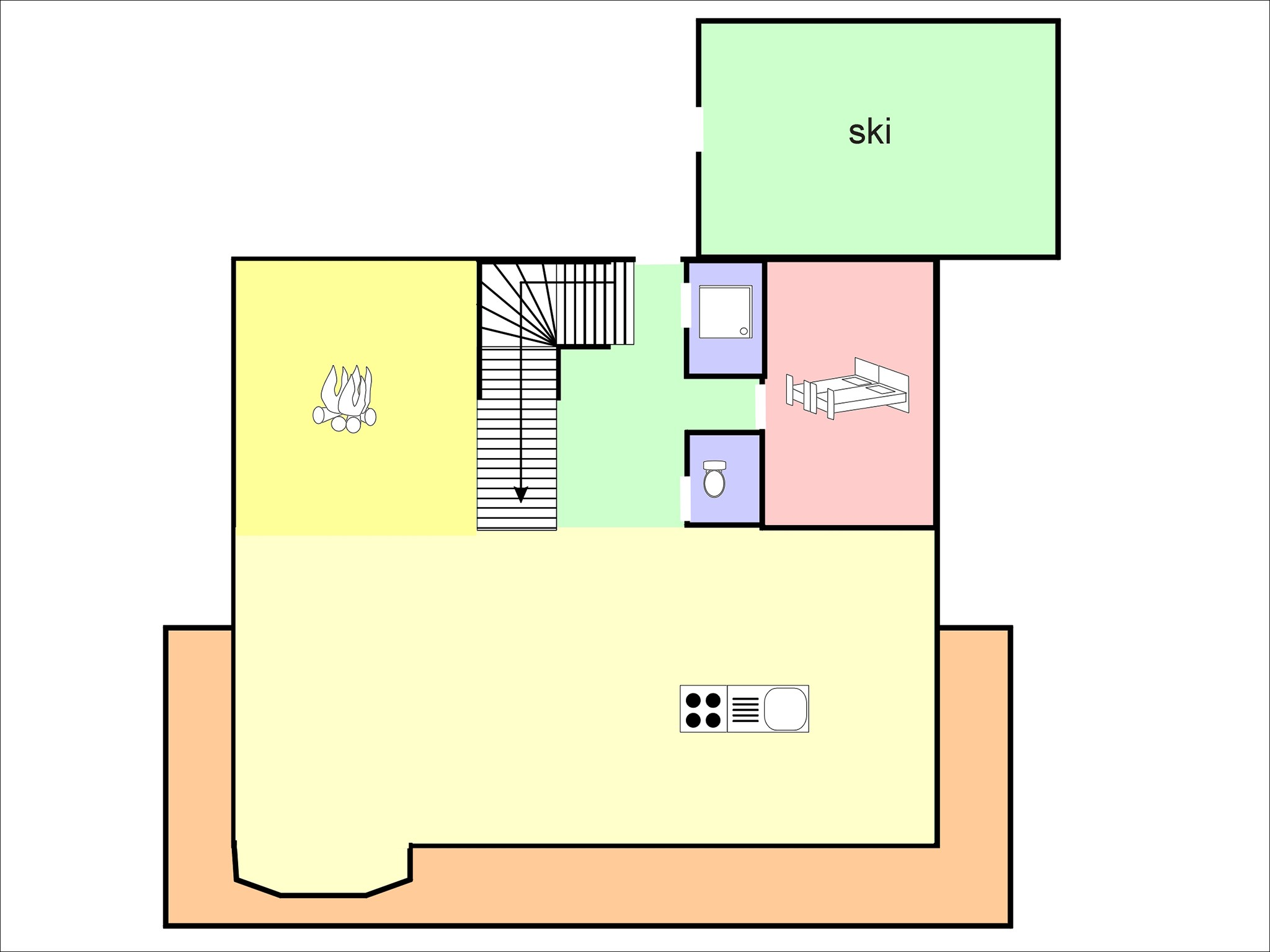 Chalet Châtel CAN01 - floor plan - level 1
