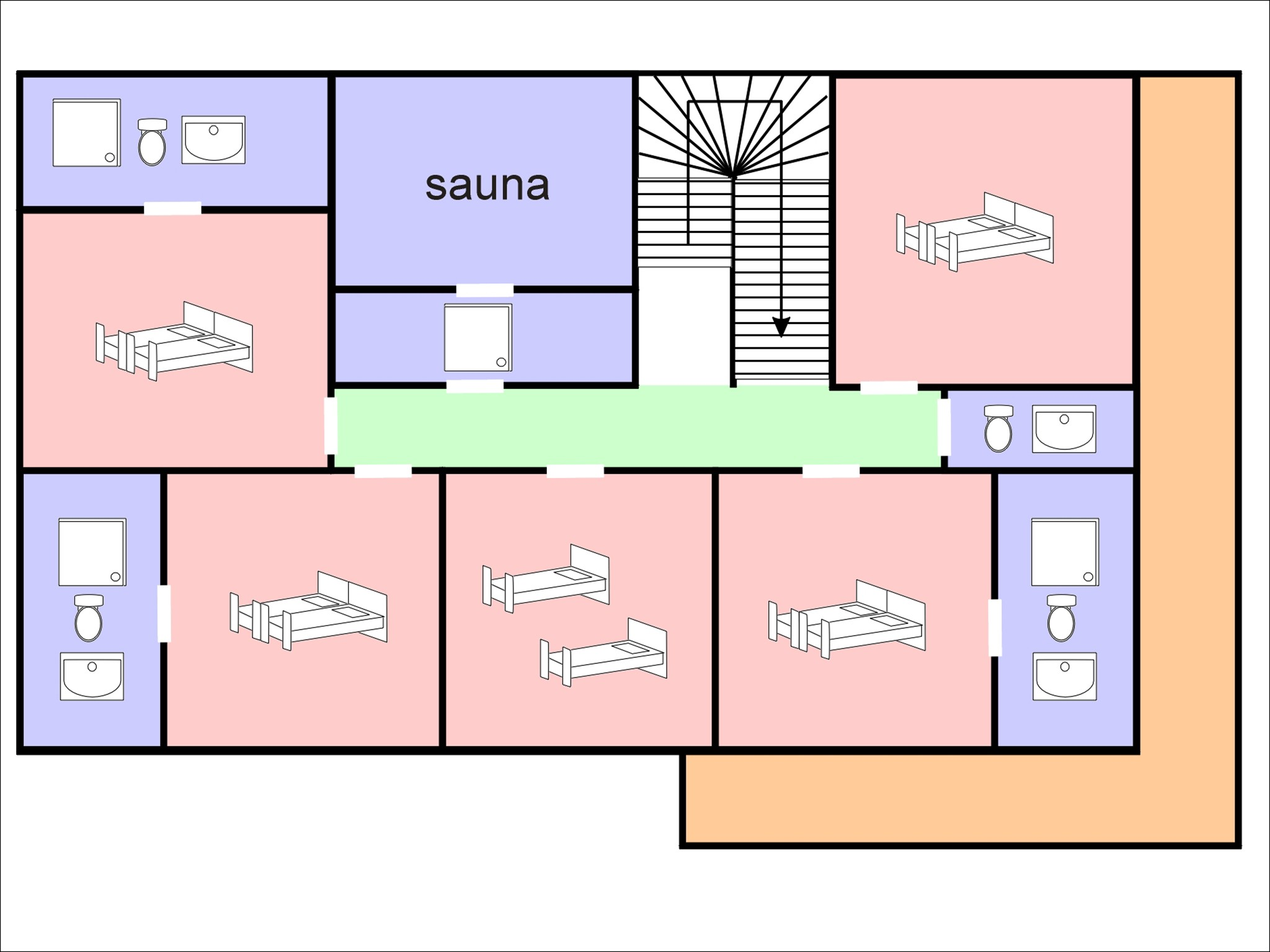 Chalet Maria - floor plan - level 1