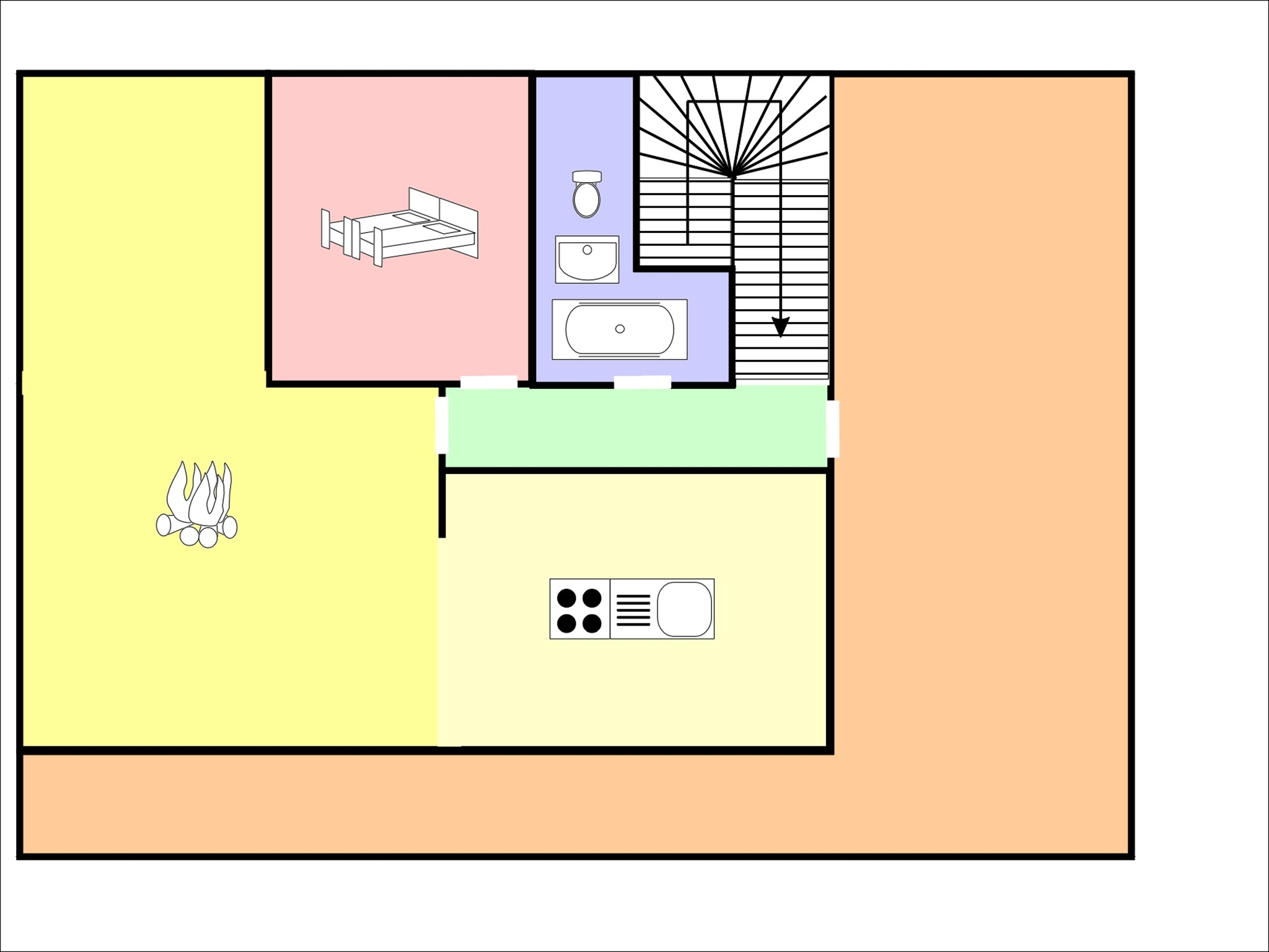 Chalet Maria - floor plan - level 2