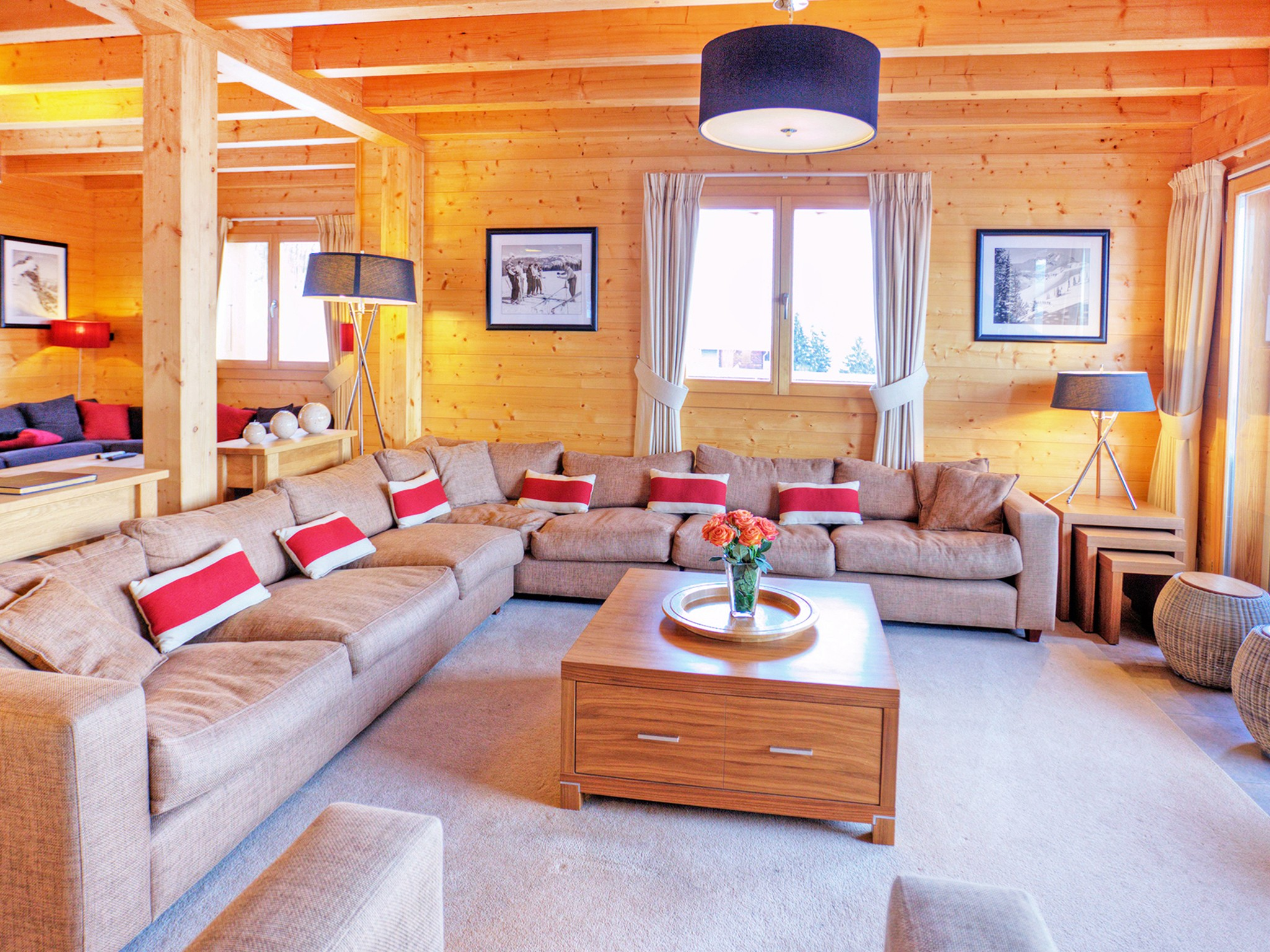 Chalet Teychenne - living room