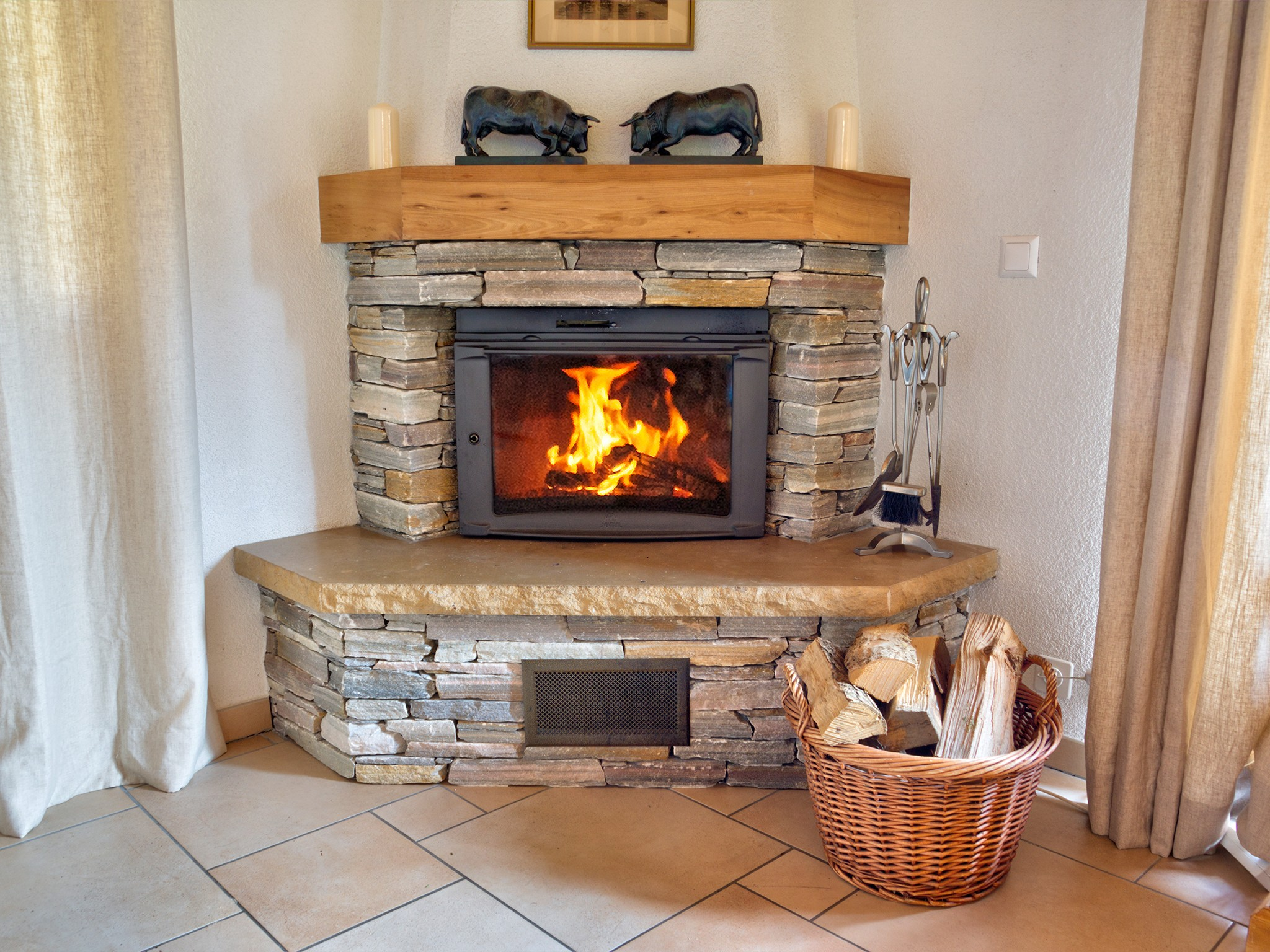 Chalet Collons 1850 - fireplace