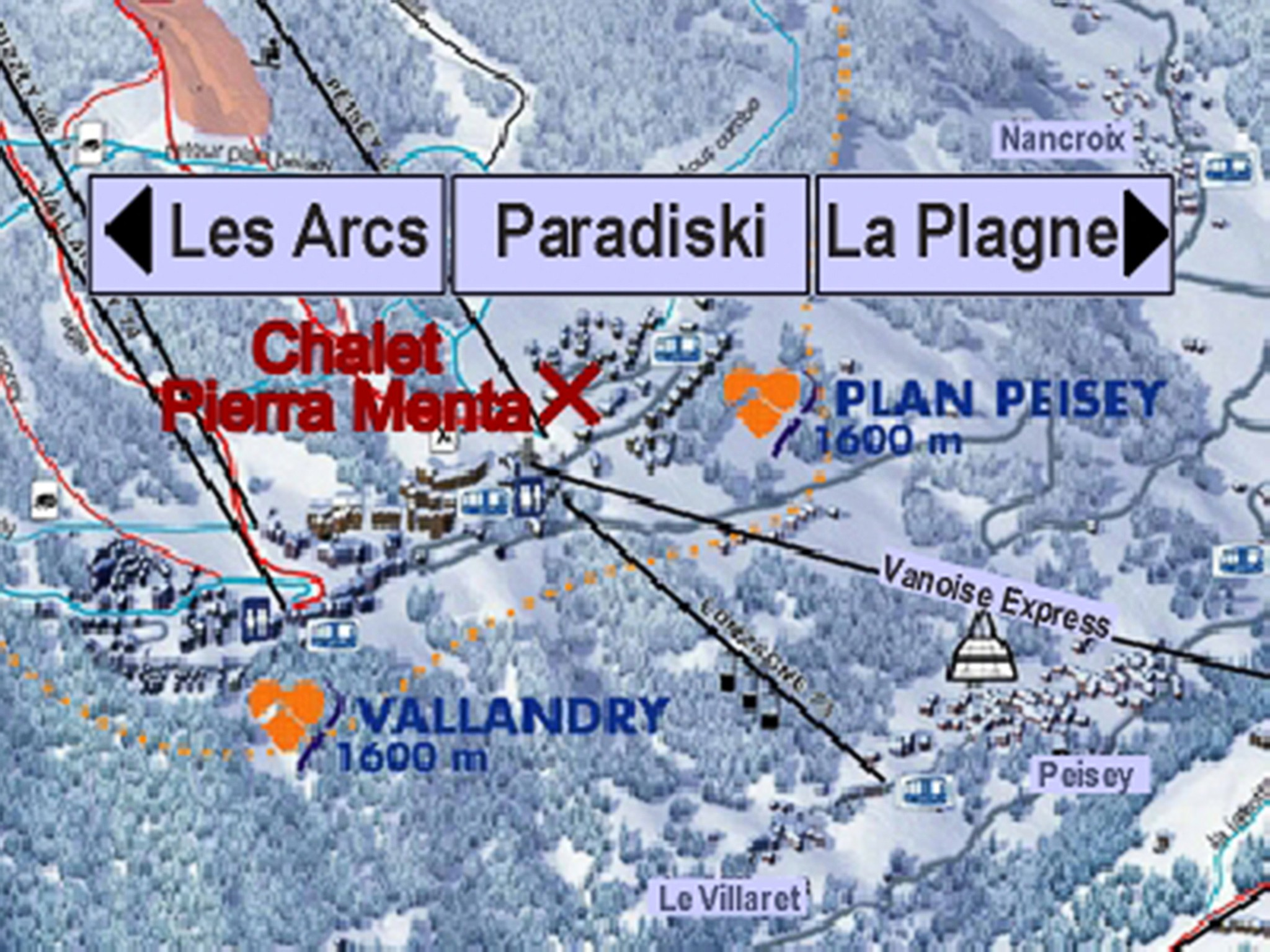 Chalet Pierra Menta - location map
