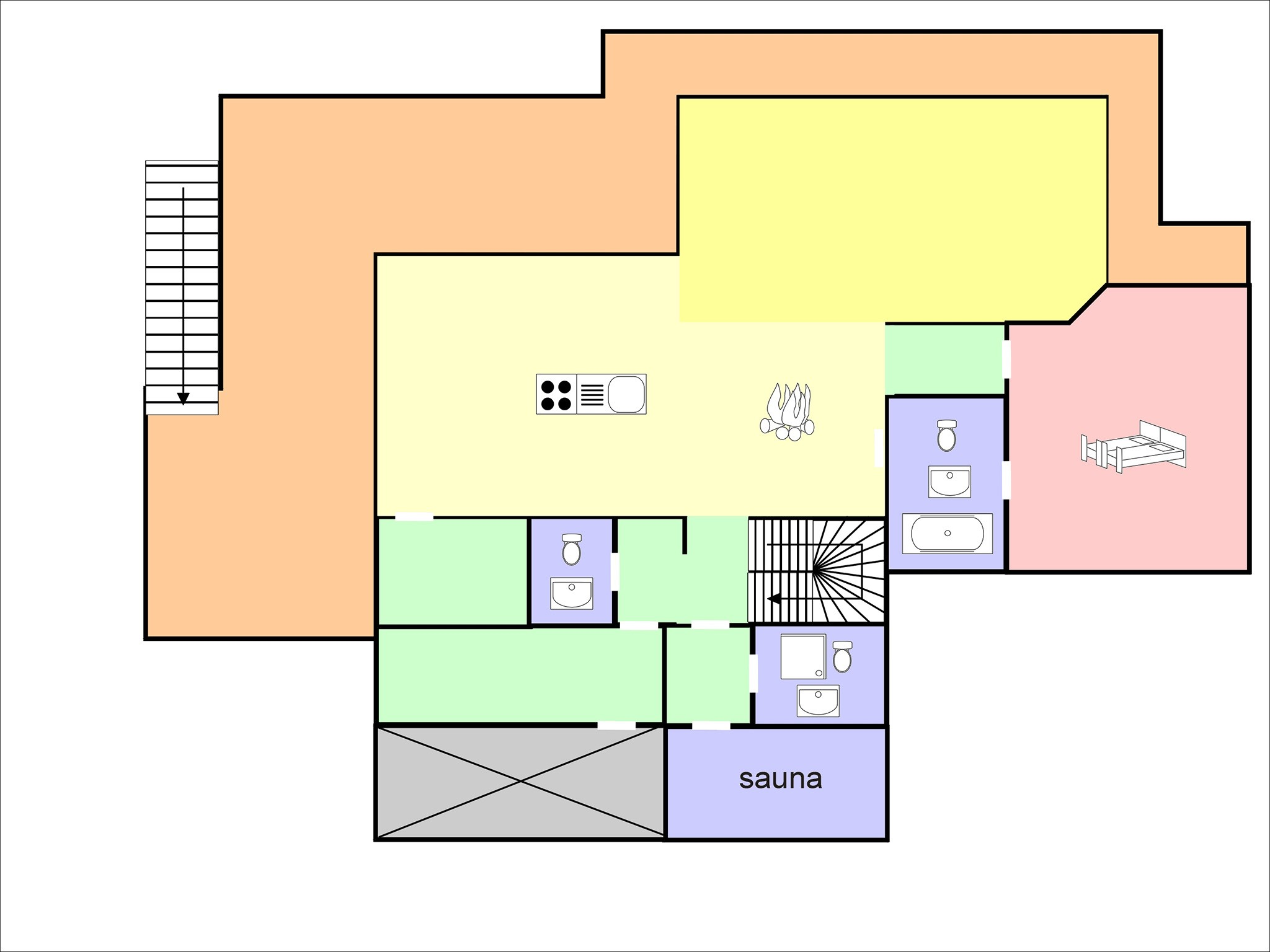Chalet Flocon de Neige - floor plan - level 2