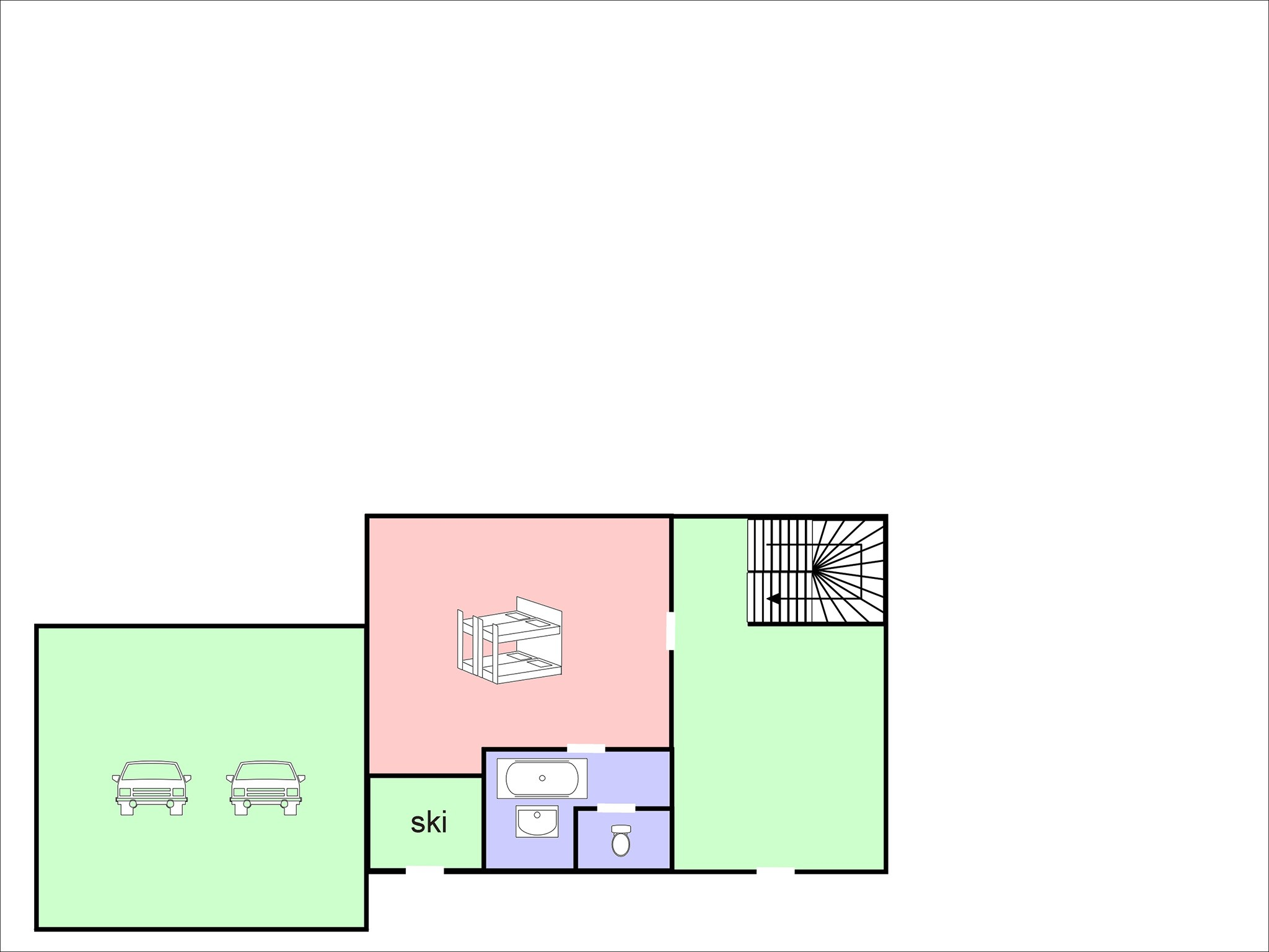 Chalet Flocon de Neige - floor plan - level 3