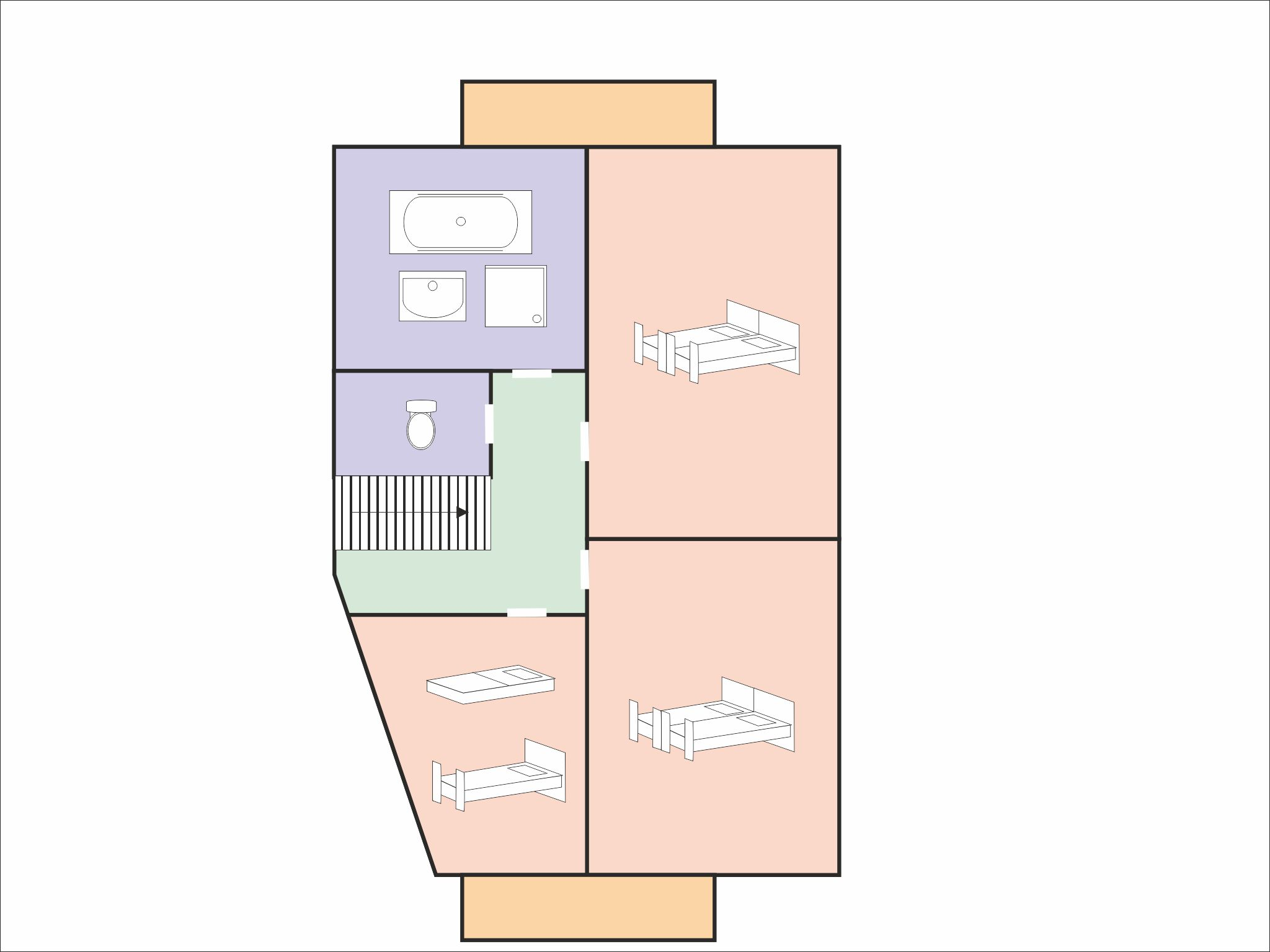 Chalet Raffort Méribel - floor plan - level 2