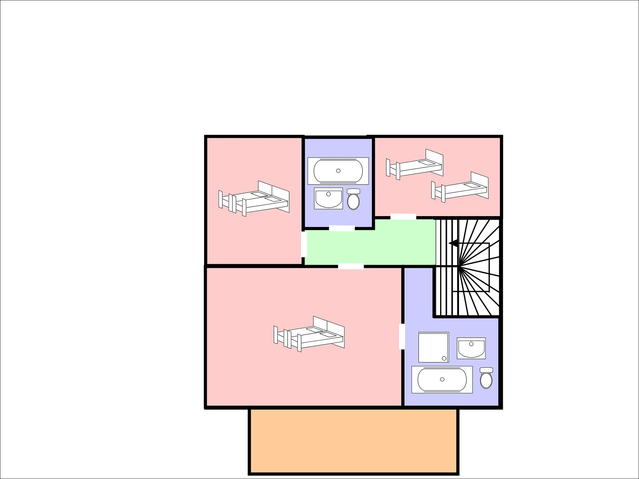 Chalet Falcons Nest - floor plan - level 2