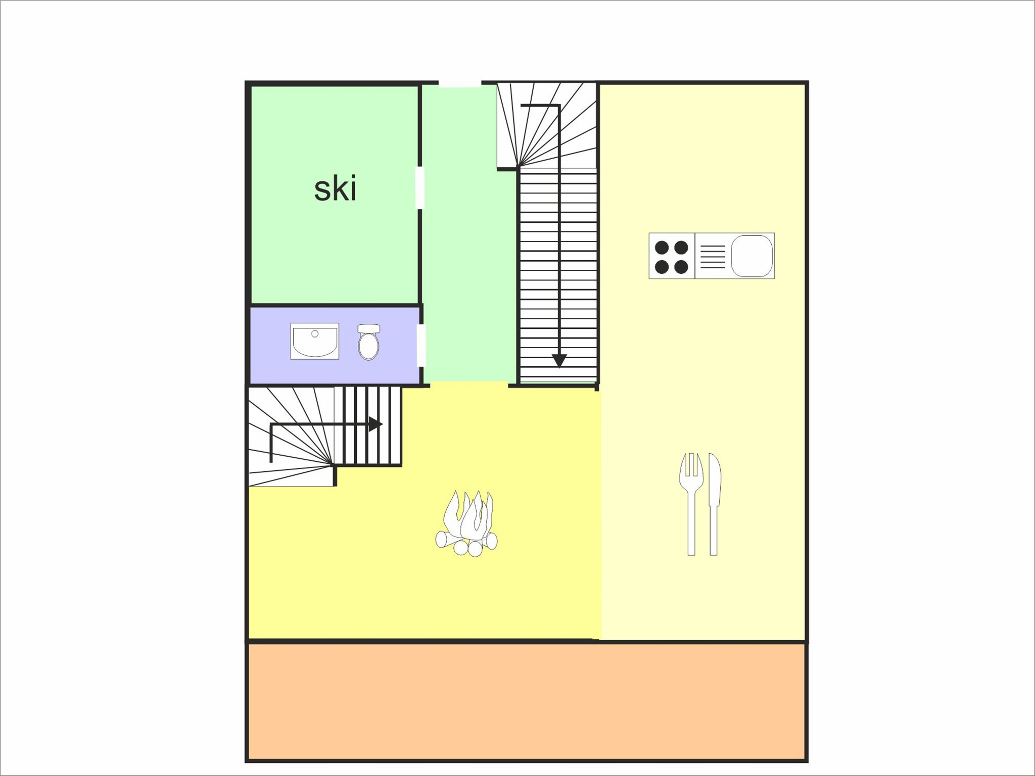 Chalet Chaud - floor plan - level 2