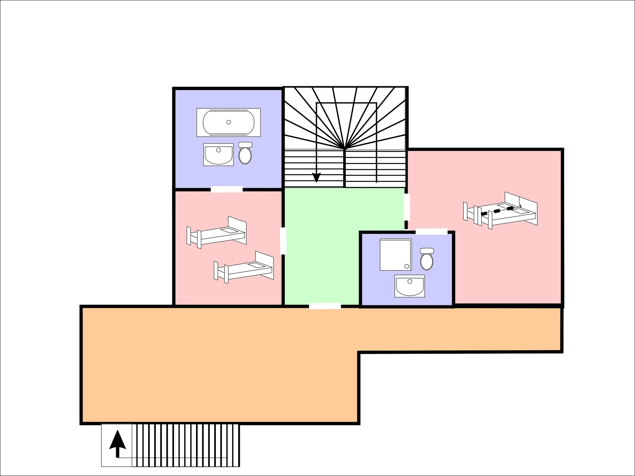 Chalet Brock - floor plan - level 1