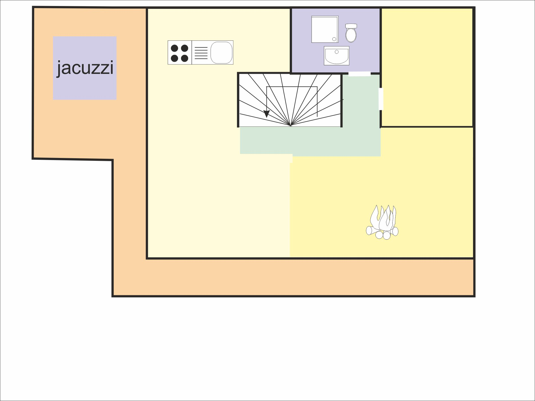 Chalet Brock - floor plan - level 2
