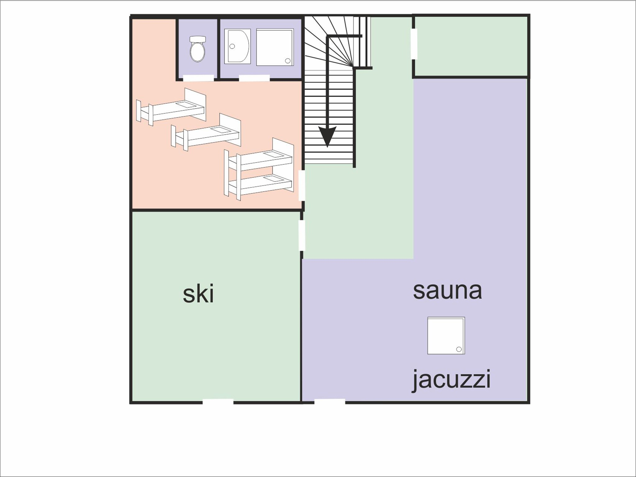 Chalet Ski  Royal - floor plan - level 1