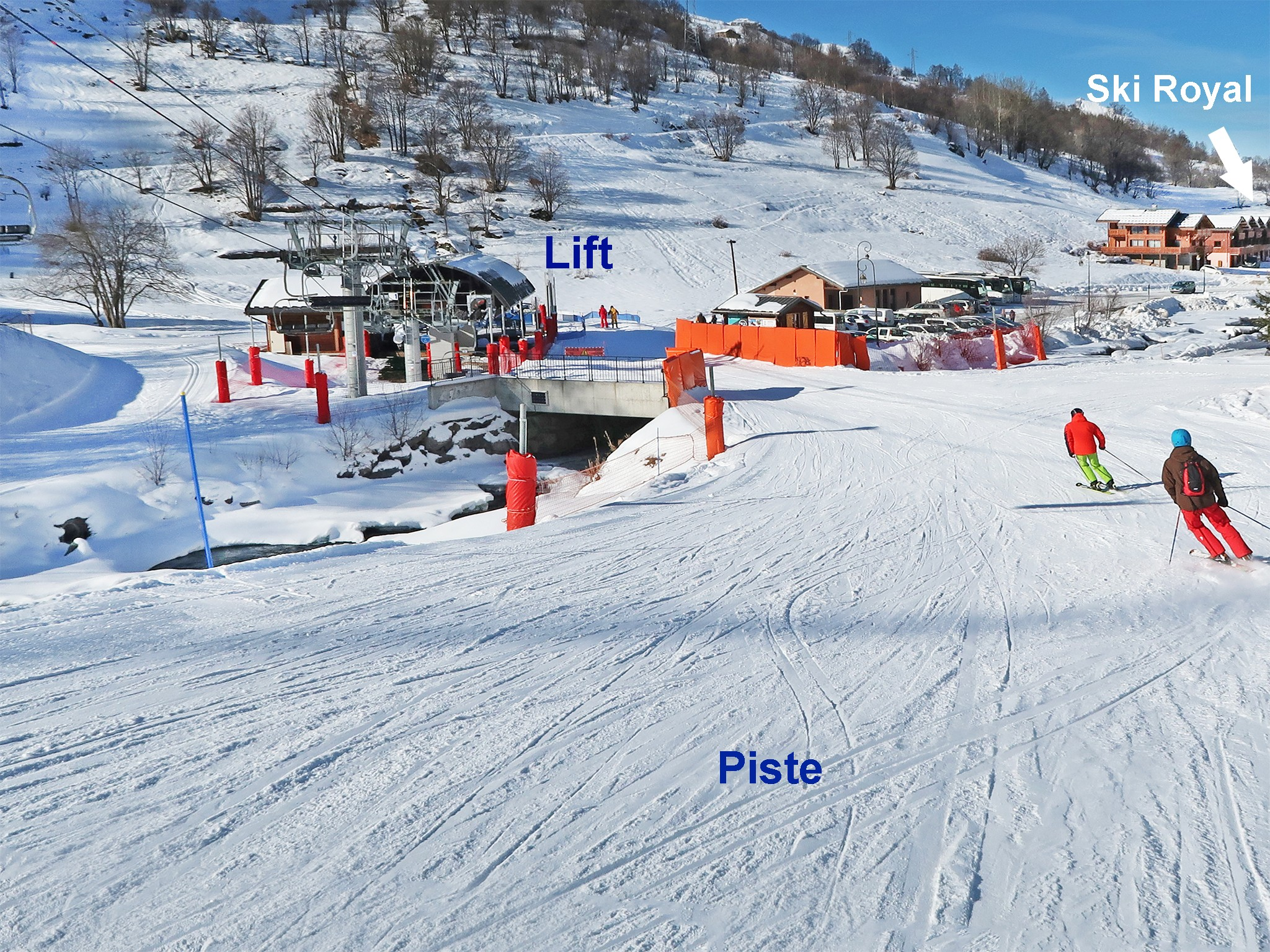 Chalet Ski Royal - location