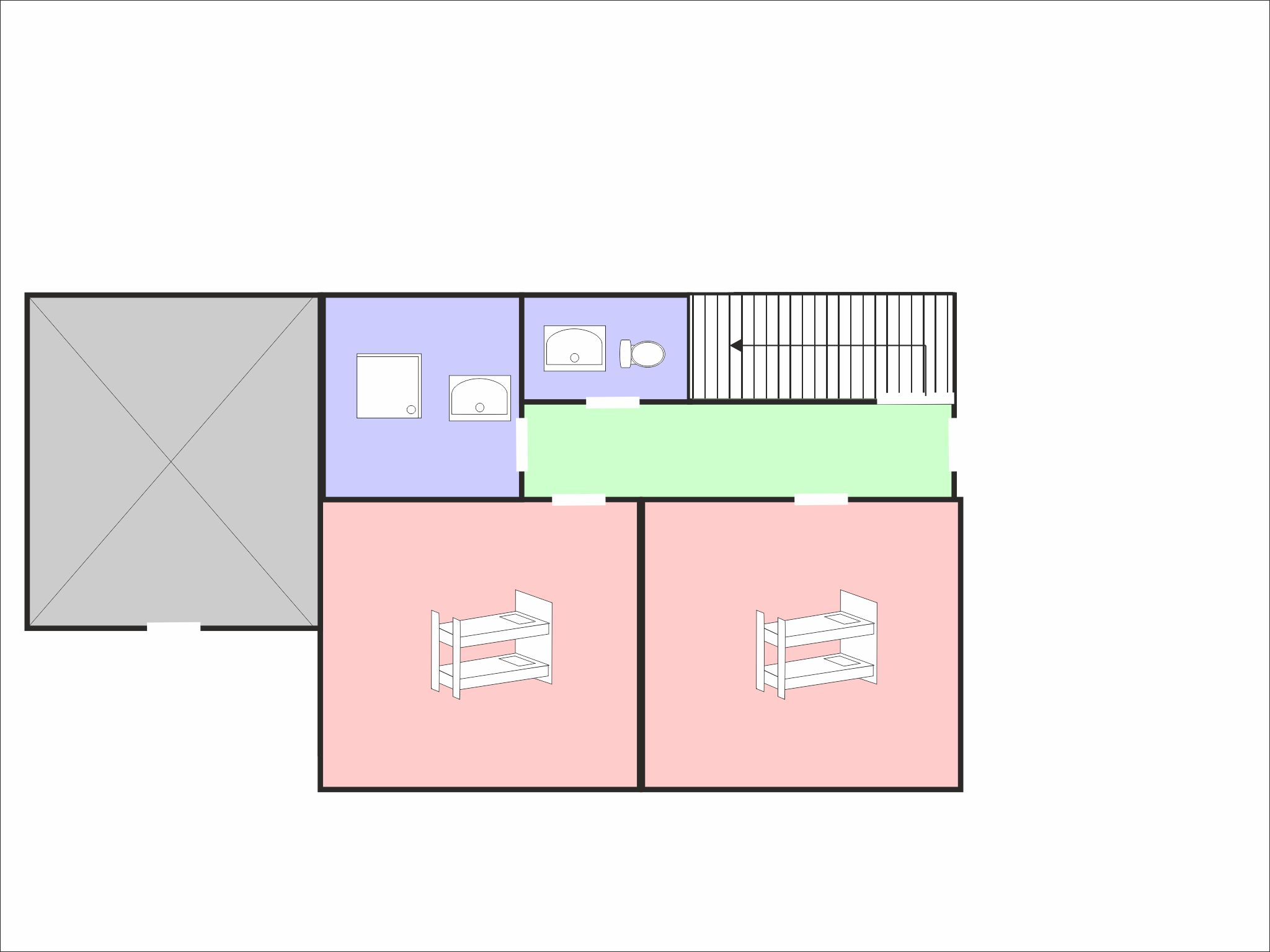 Chalet Barbara - floor plan - level 1