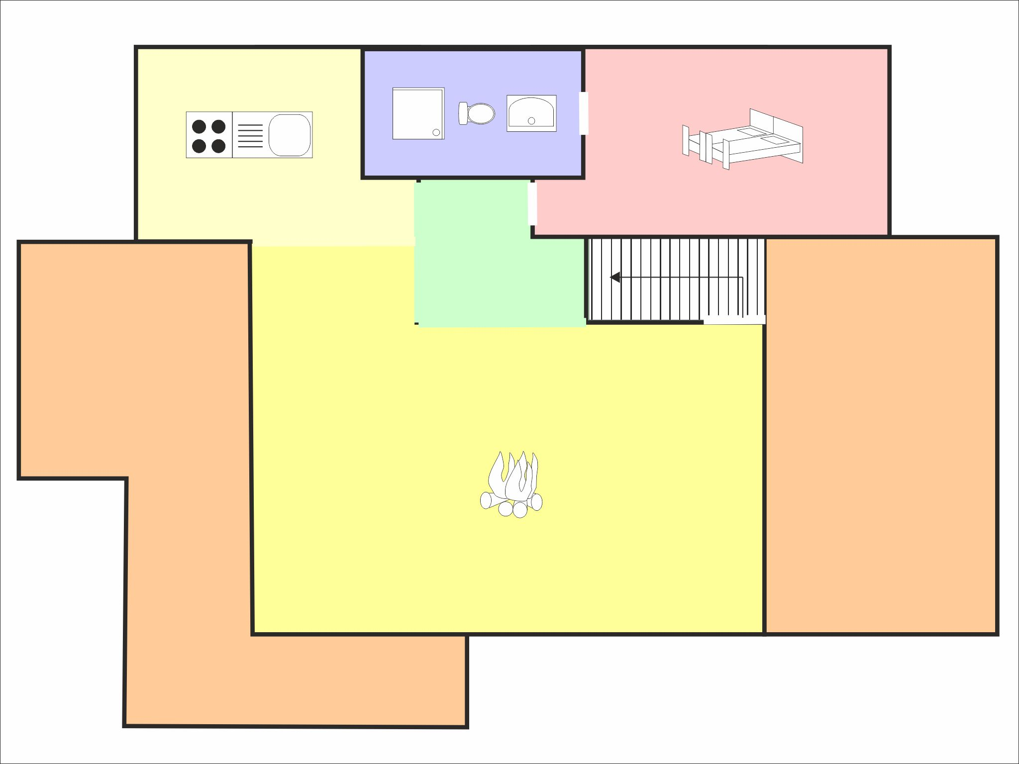 Chalet Barbara - floor plan - level 2