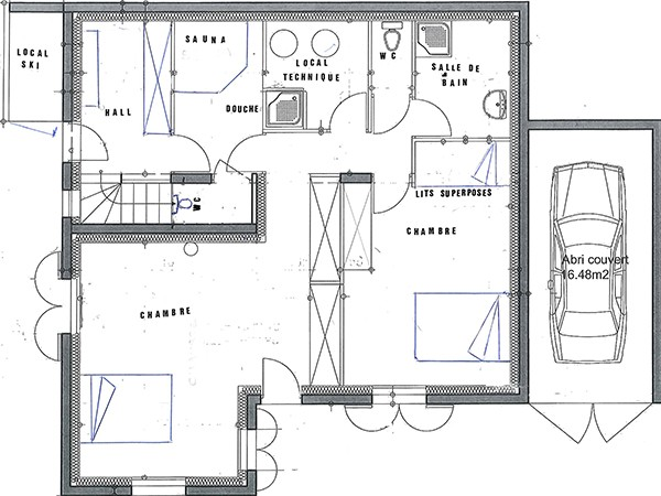 Chalet Grand Lucien - floor plan - level 1