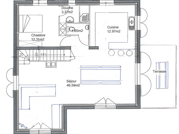 Chalet Grand Lucien - floor plan - level 2