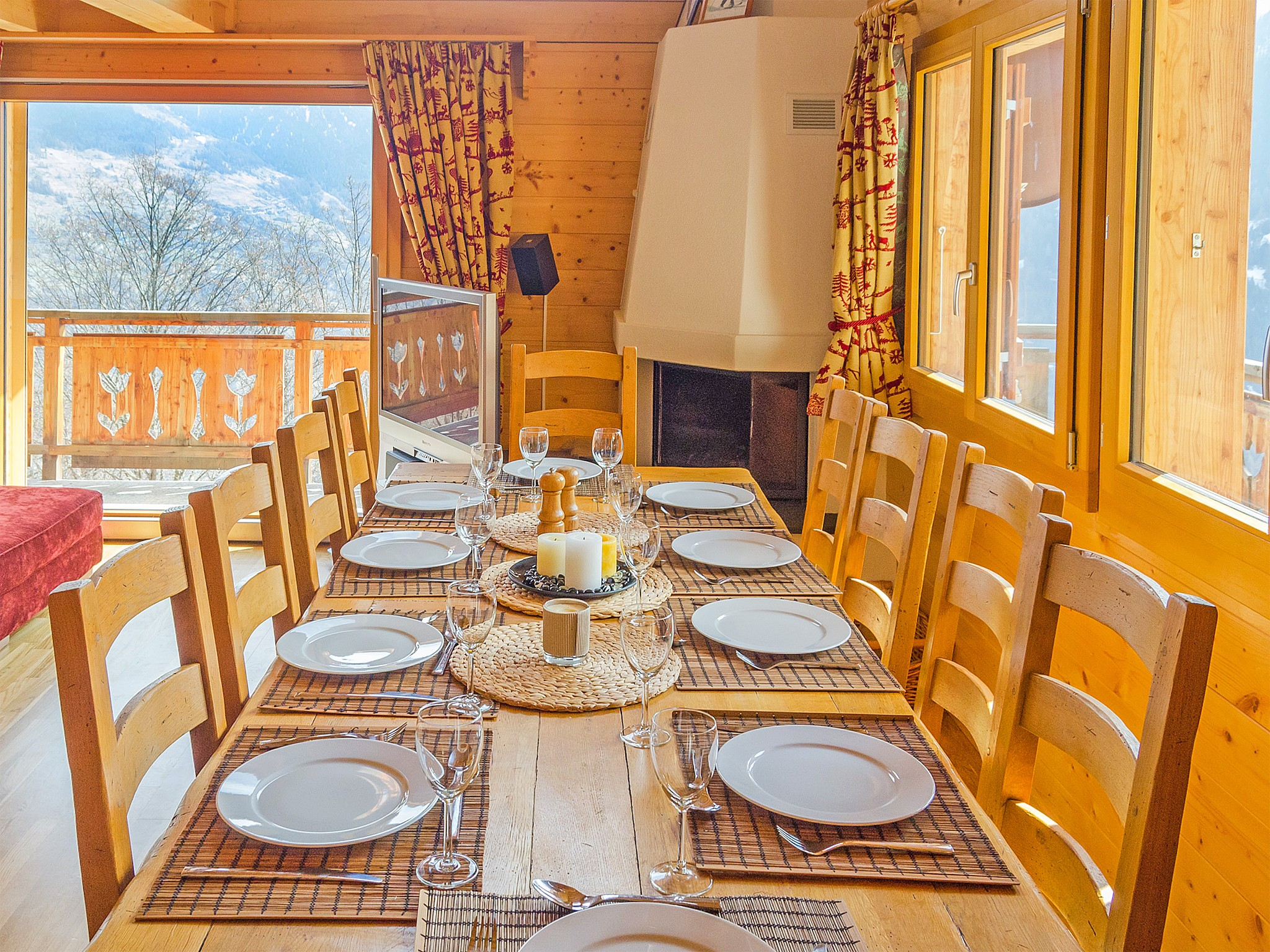 Chalet Greppon Blanc - coin repas