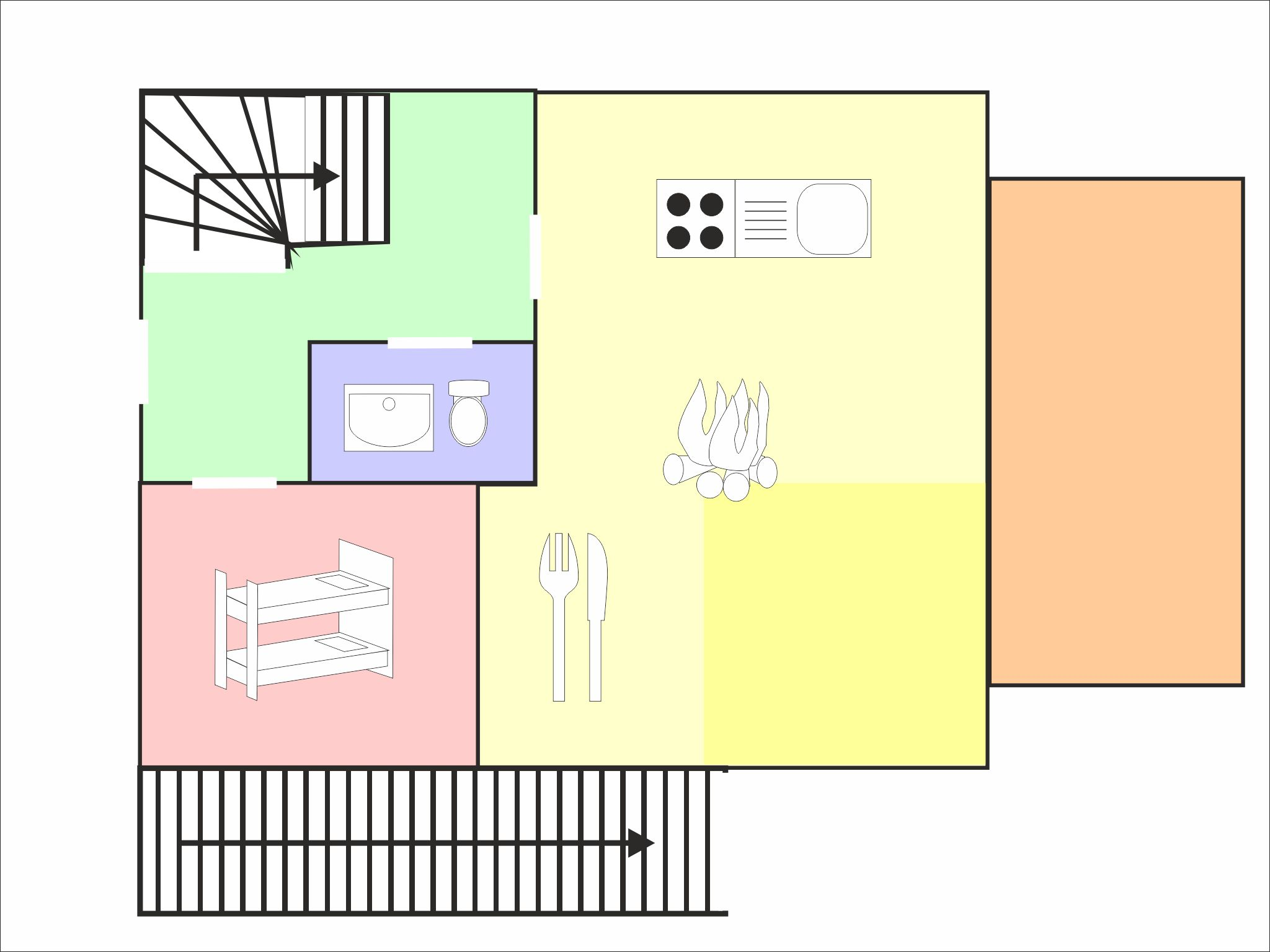 Ski Lodge Leogang - floor plan - level 1