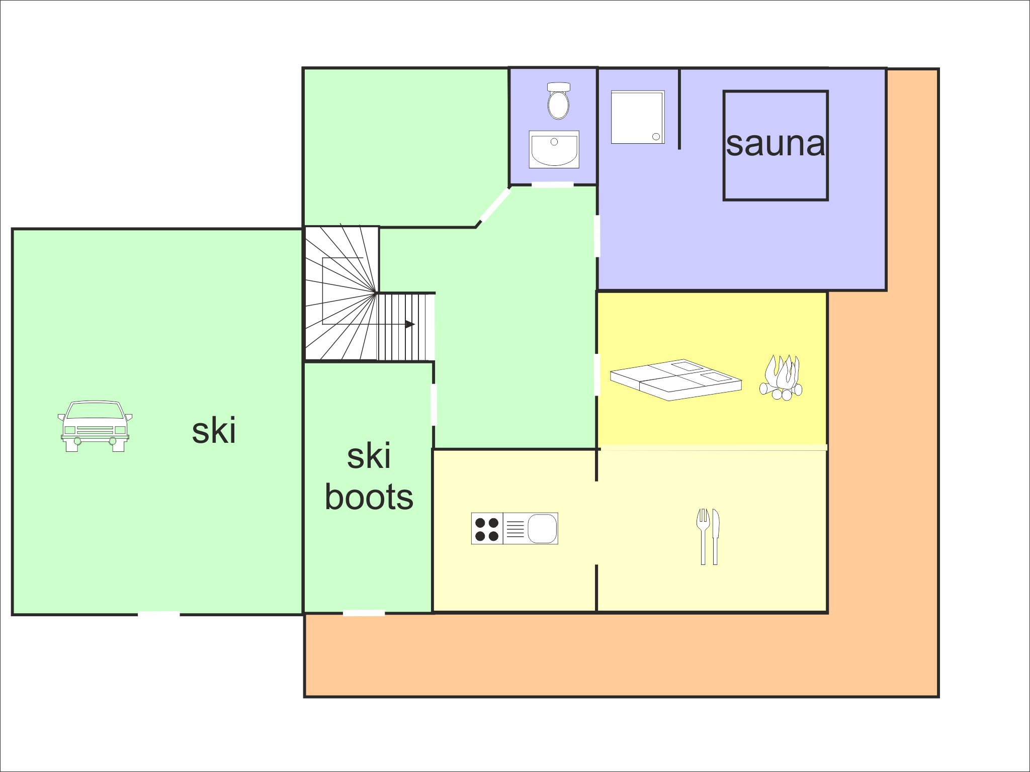 Panorama Hütte Saalbach - floor plan - level 1