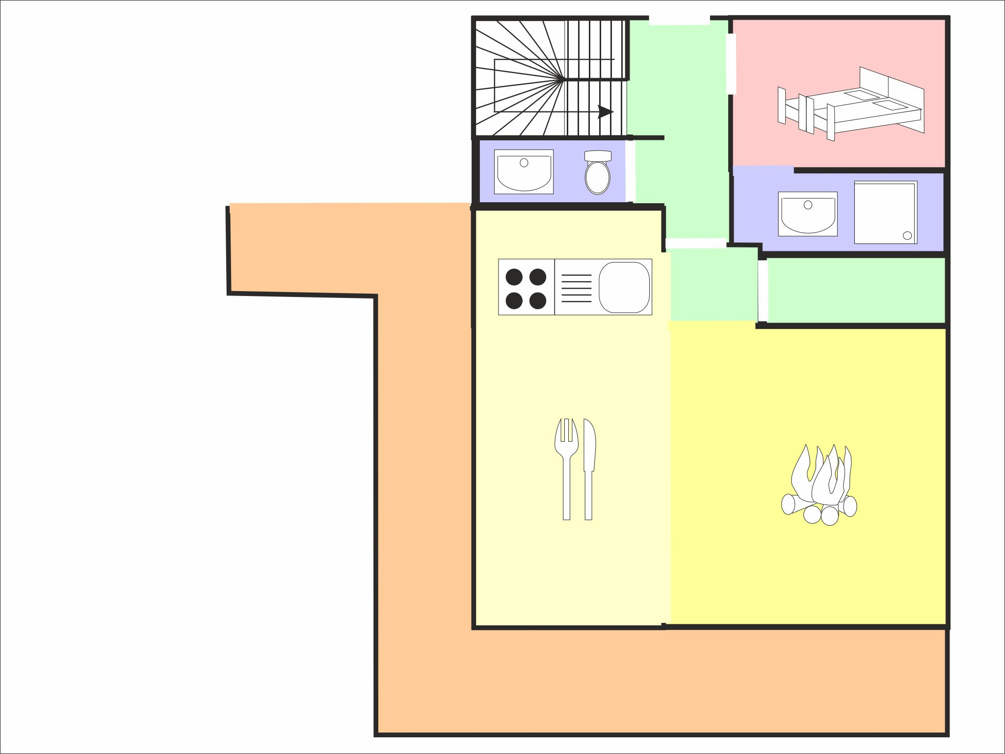 Alpine Luxury Lodge Zugspitze - floor plan - level