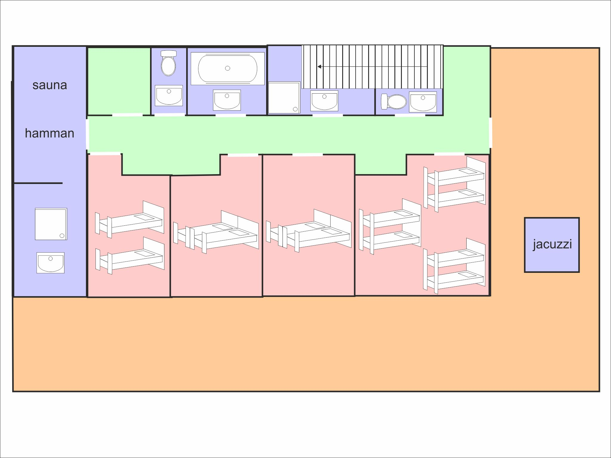 Chalet Olympe - floor plan - level 1