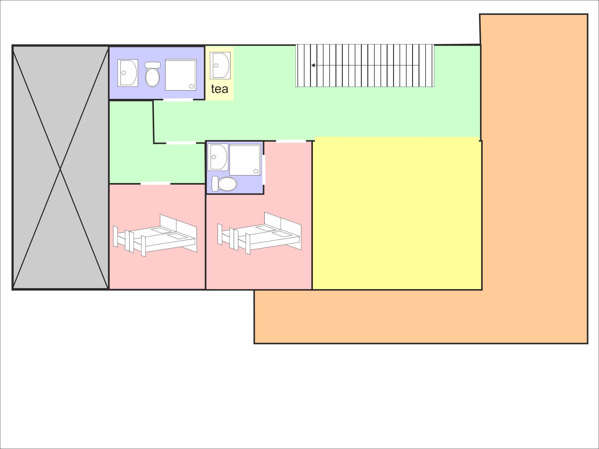 Chalet Olympe - floor plan - level 2
