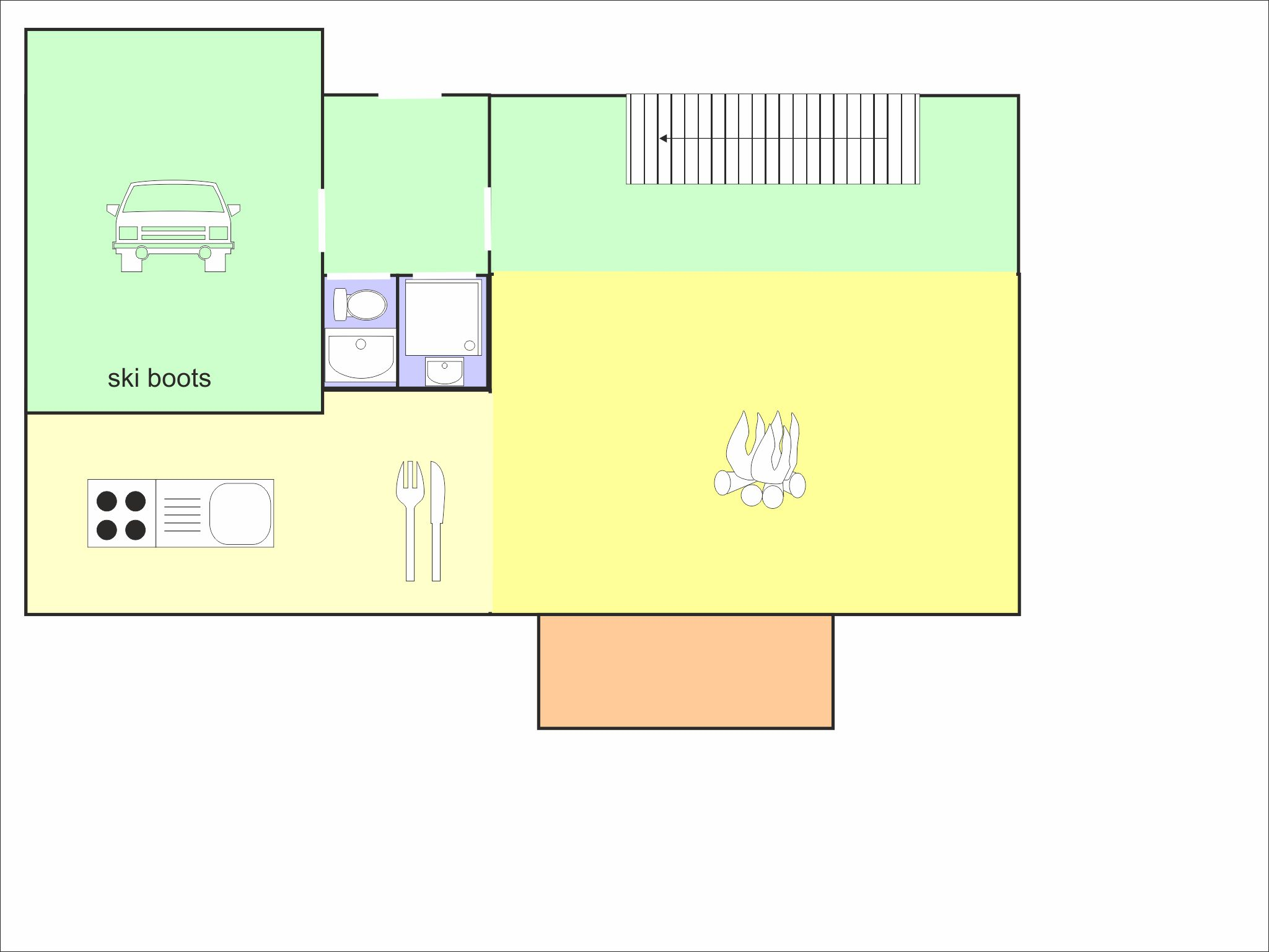 Chalet Olympe - floor plan - level 3