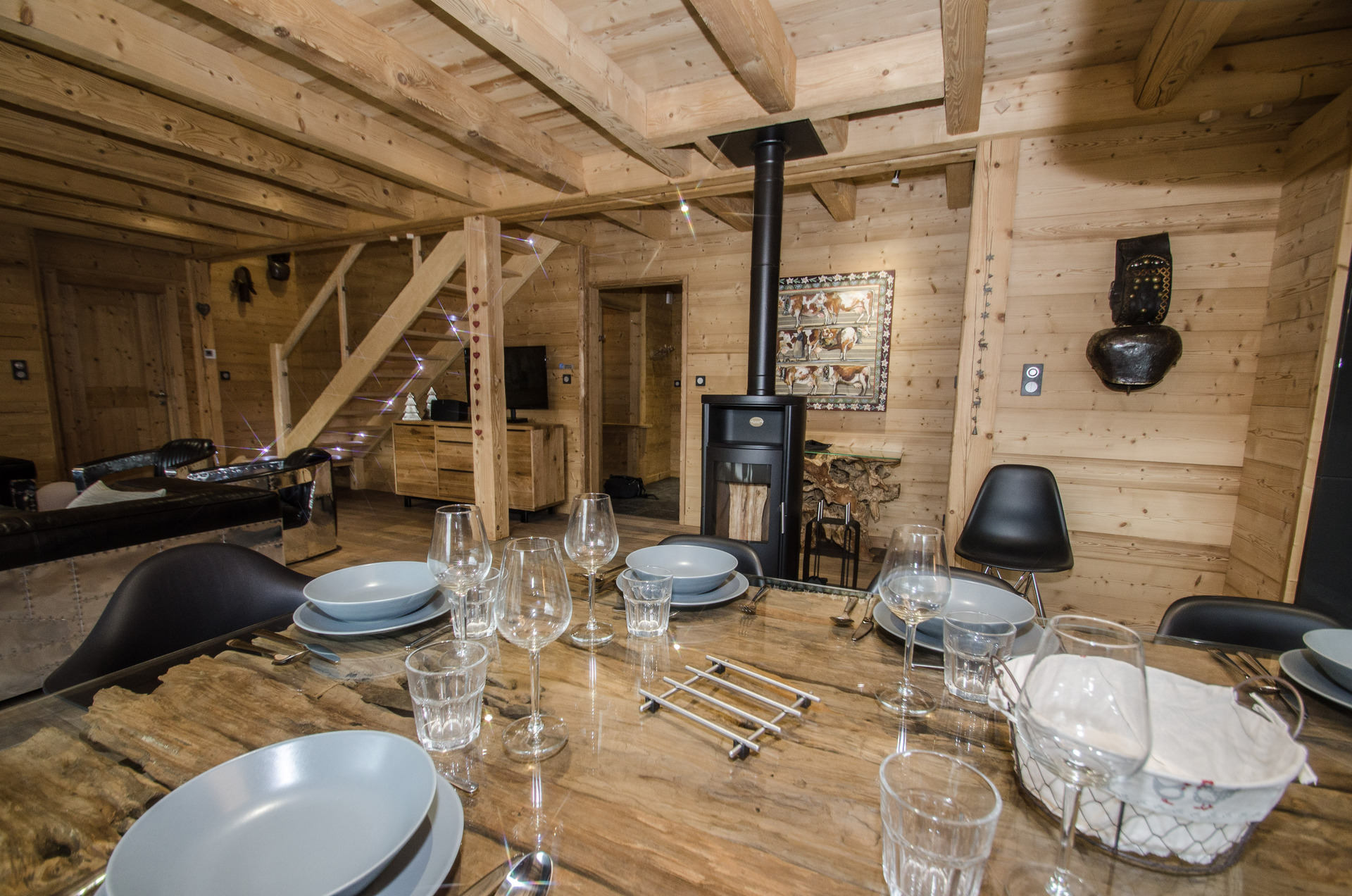 Chalet Marius - dining area