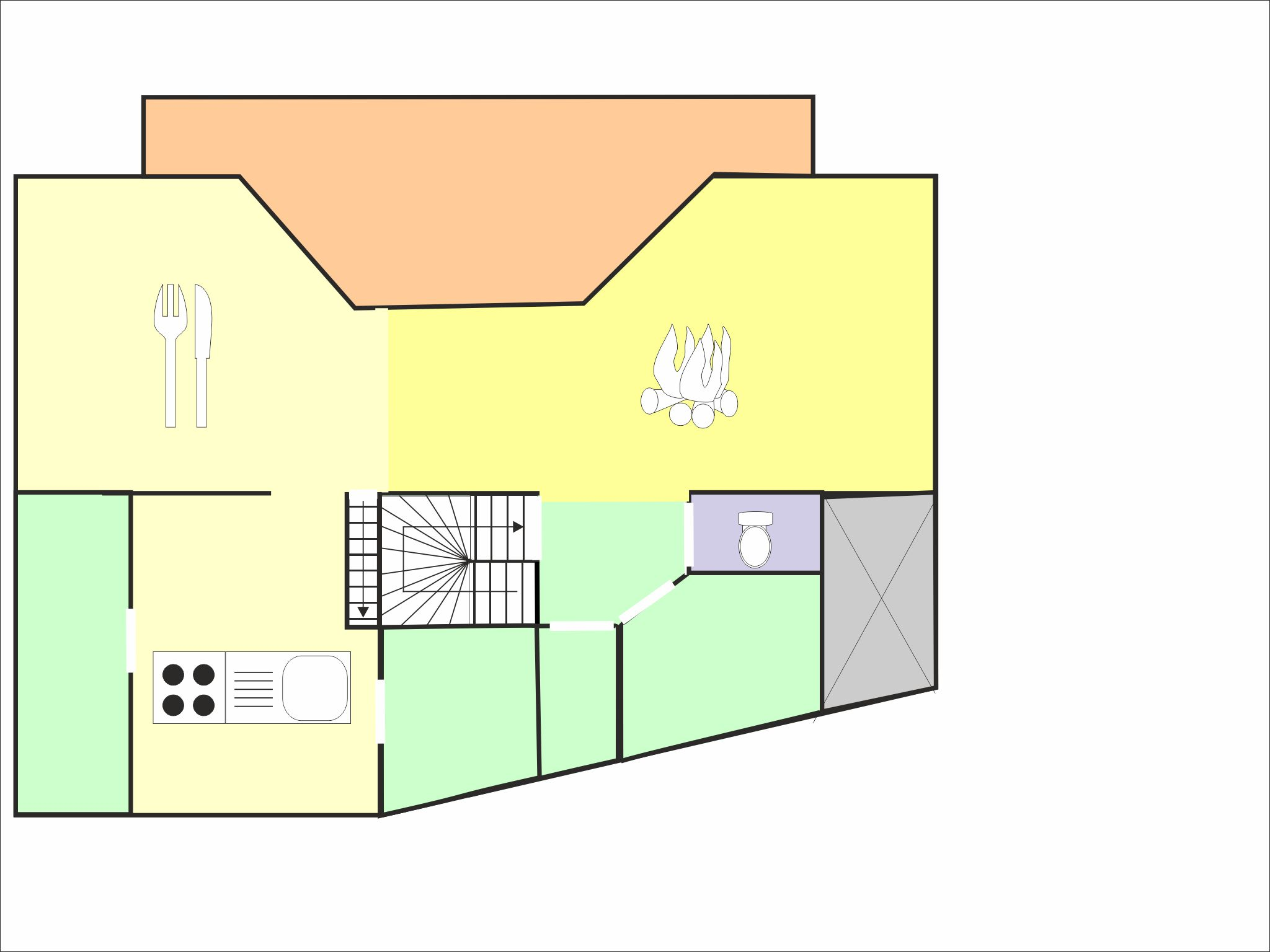 Chalet Ulysse - floor plan - level 3