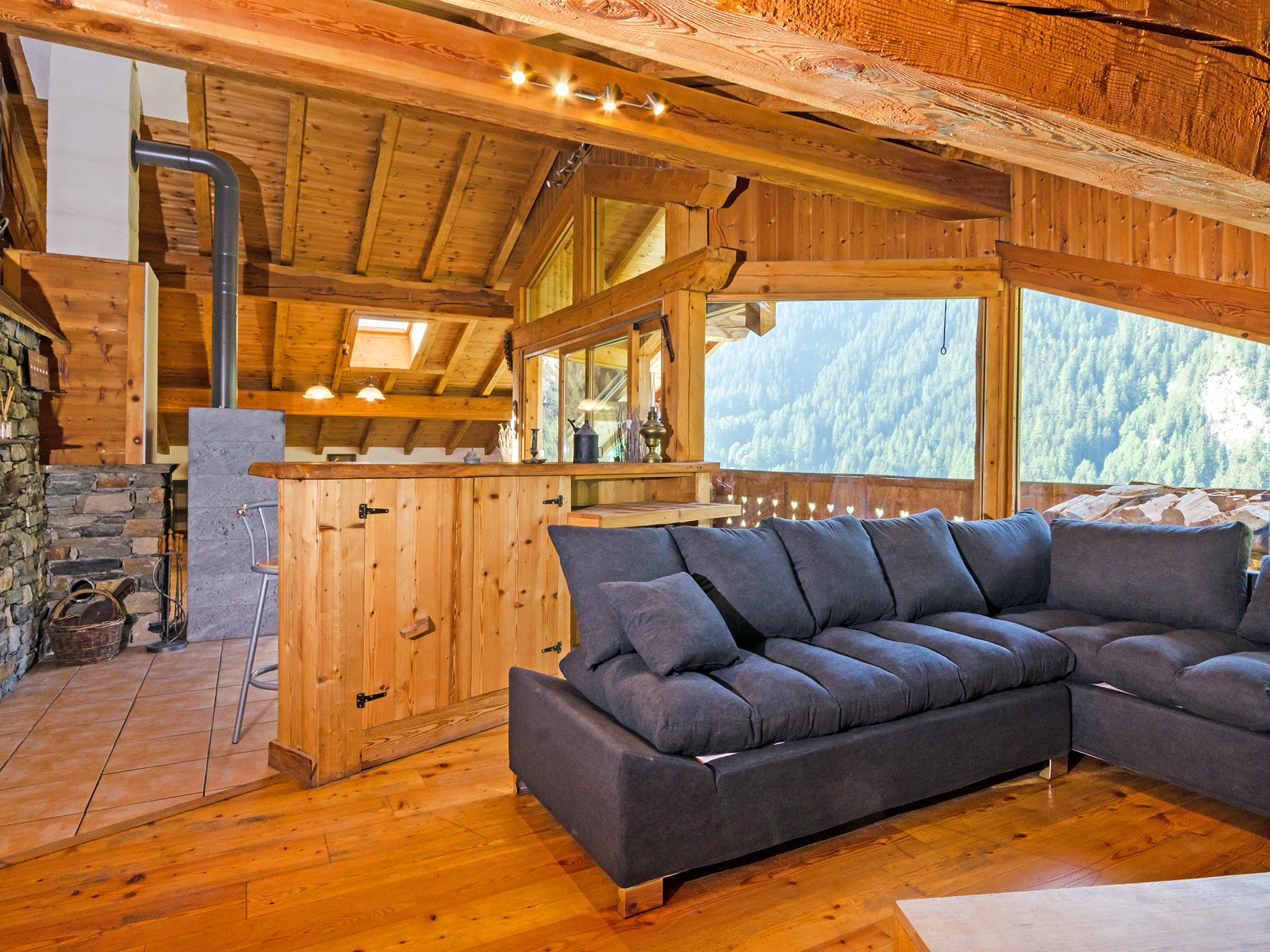 Chalet Ulysse - living room