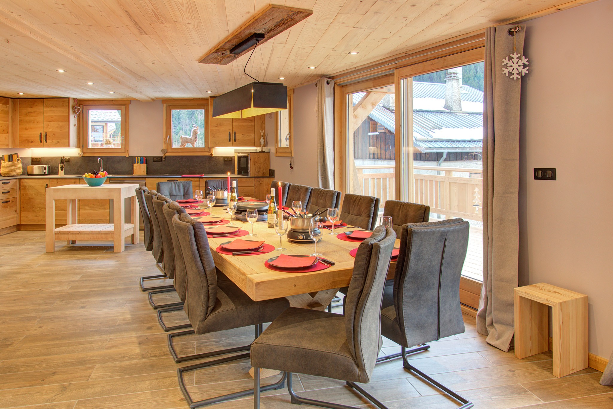 Chalet White Pearl - coin repas