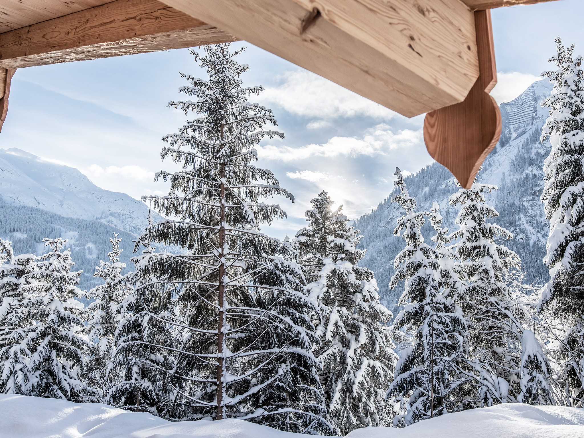 Lech-Chalet Berg - panoramic view