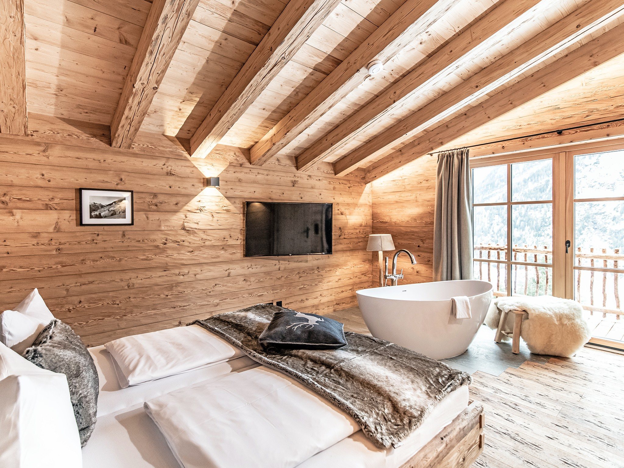 Lech-Chalet Berg - bedroom