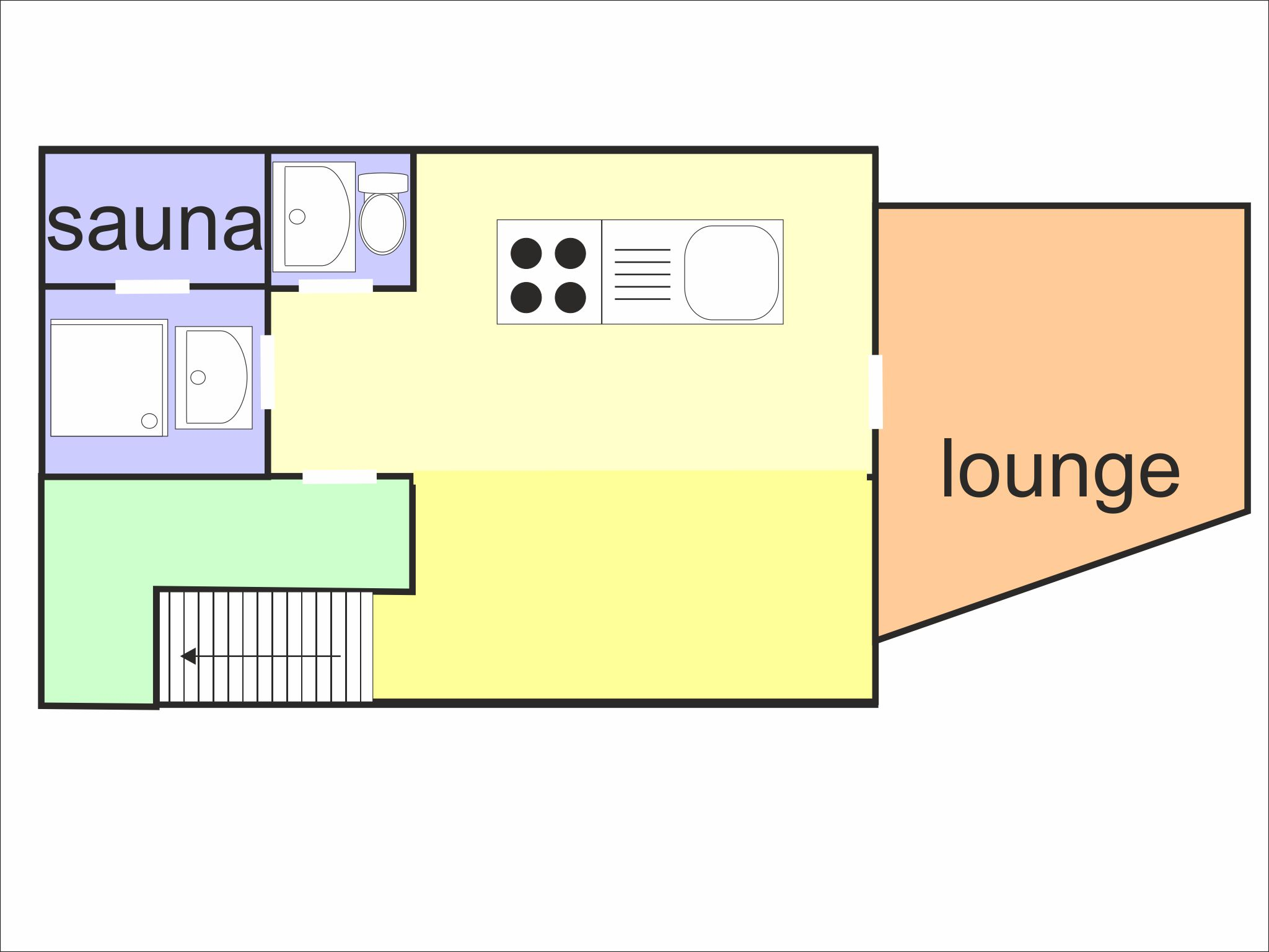 Chalet Sölden Snow Heaven - floor plan - level 1