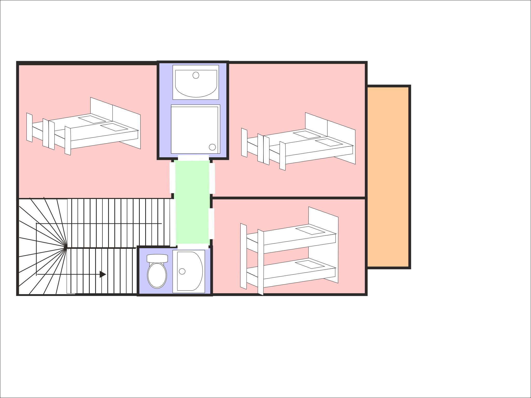 Chalet Sölden Snow Heaven - floor plan - level 2