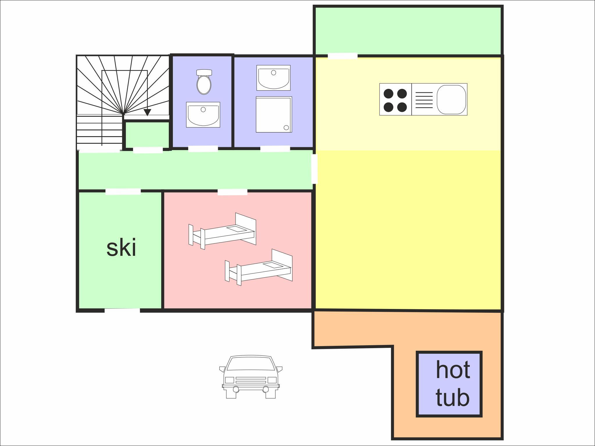 Chalet Epicea floor plan - level 1