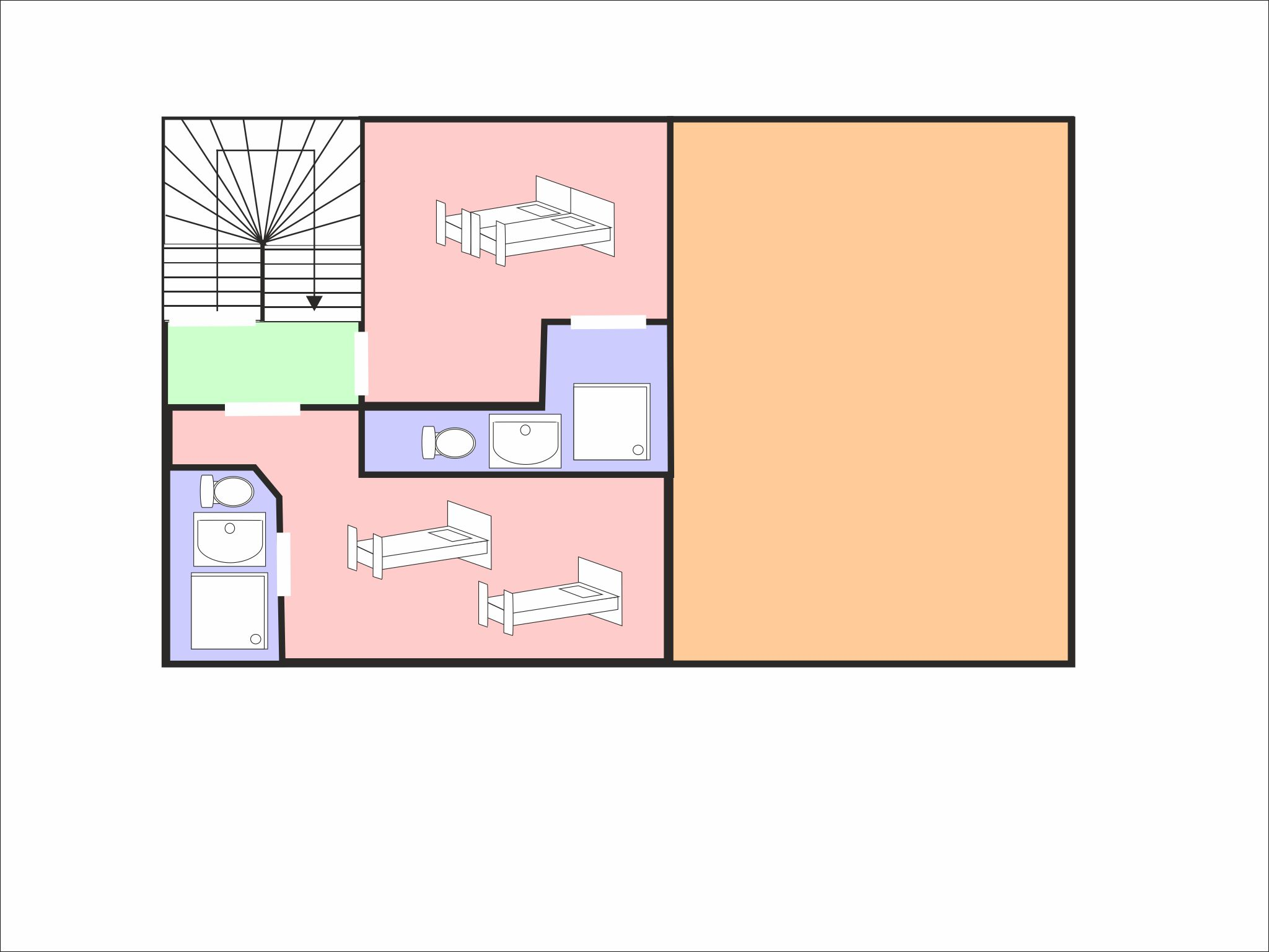 Chalet Epicea floor plan - level 2