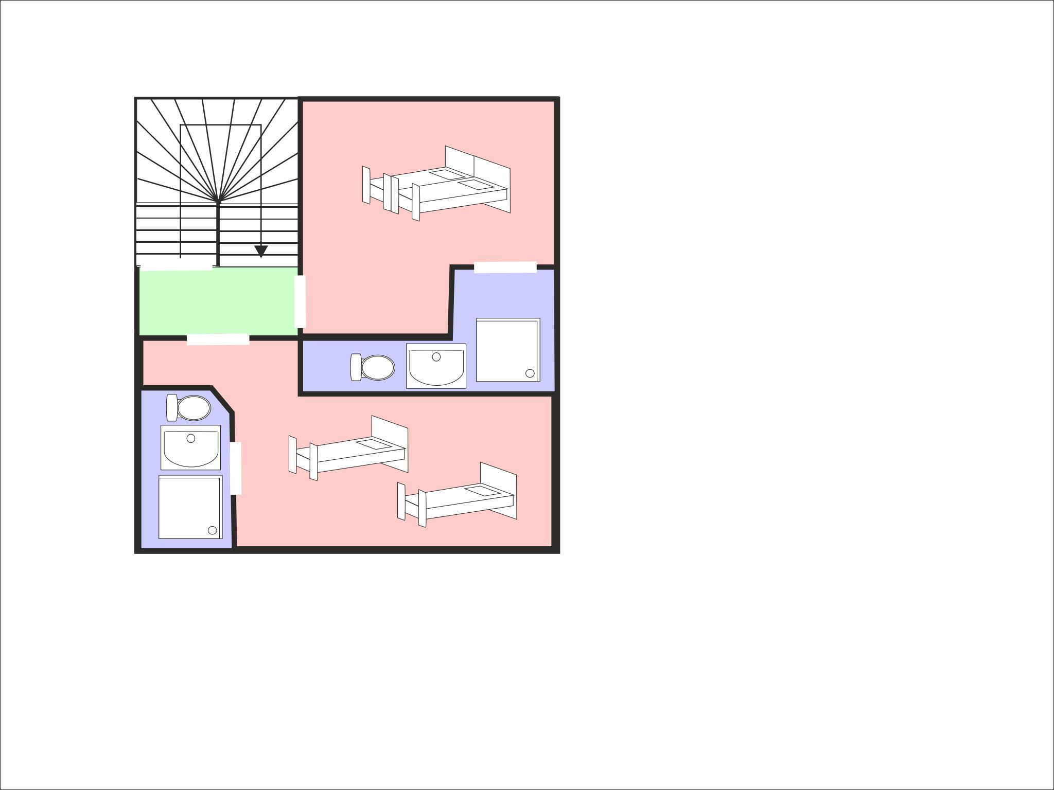 Chalet Epicea floor plan - level 3