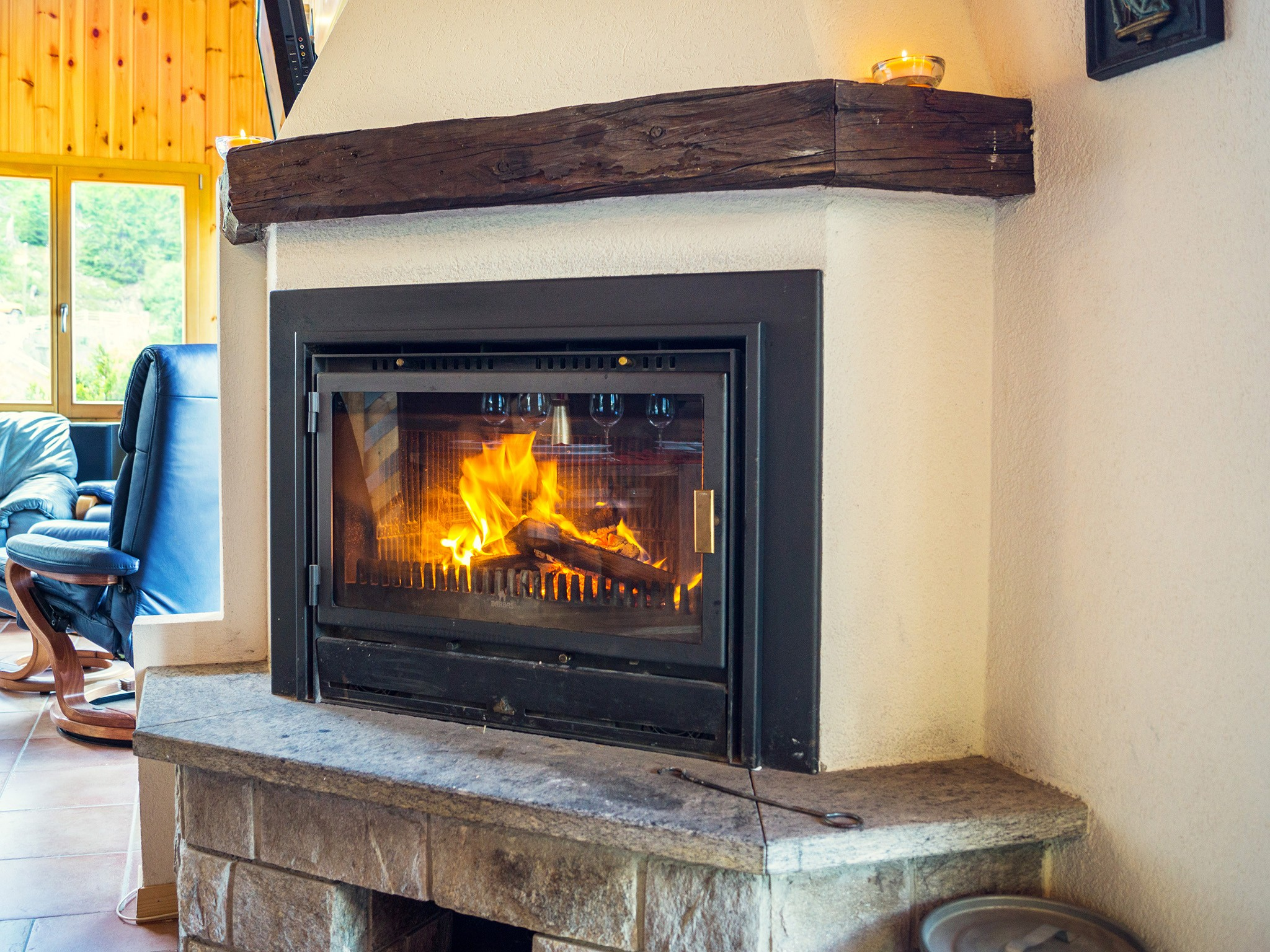 Chalet Alpina - fireplace